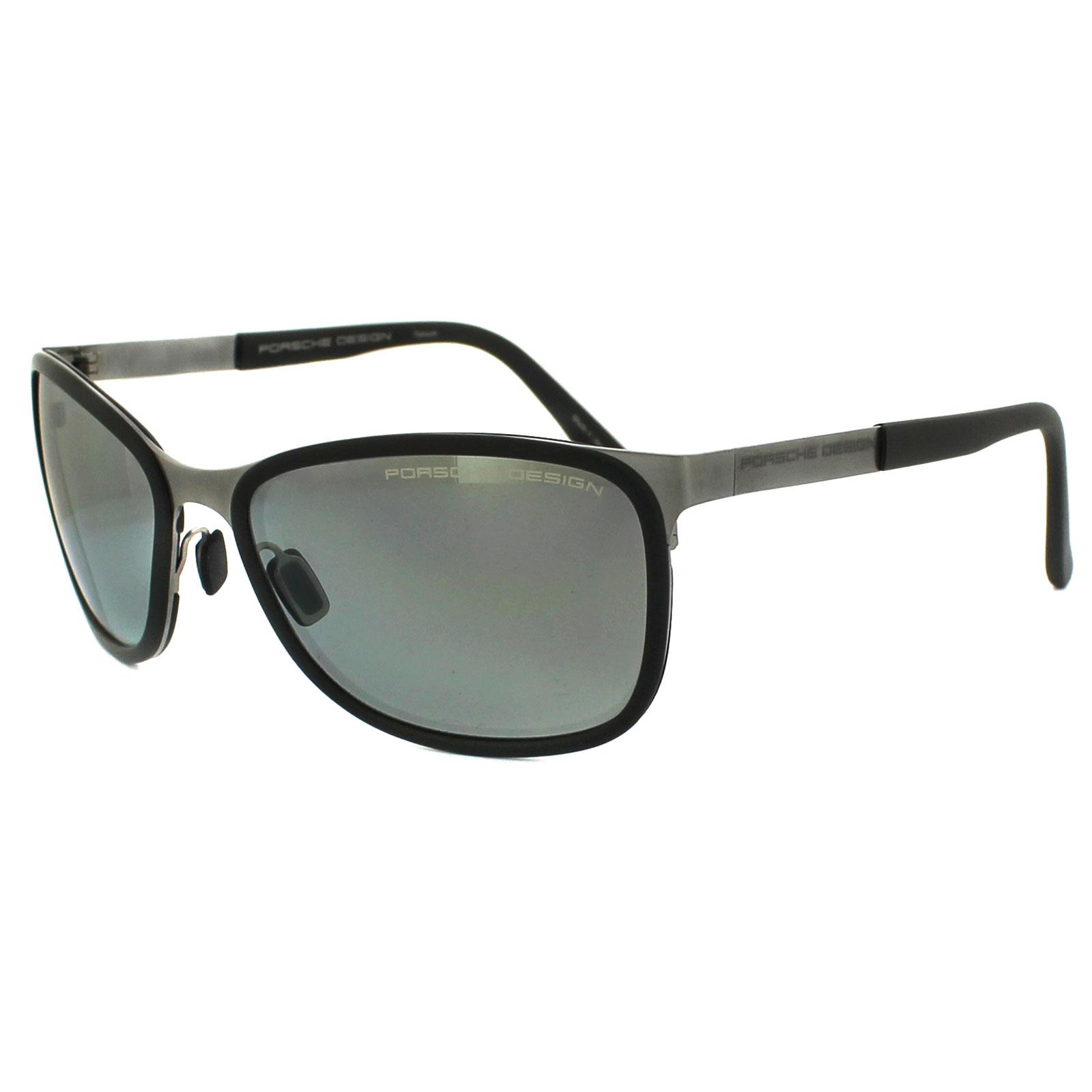 Porsche Design Sunglasses P8568 C Titanium Silver Mirror