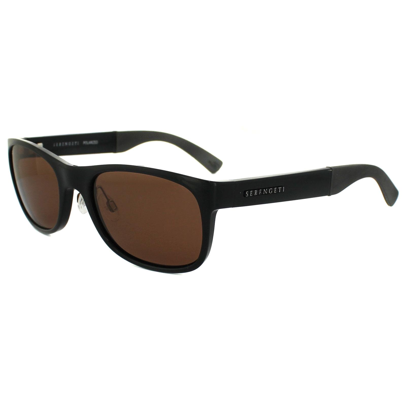 1aced0c330d Sentinel Serengeti Sunglasses Piero 7634 Shiny Black Brown Drivers Polarized