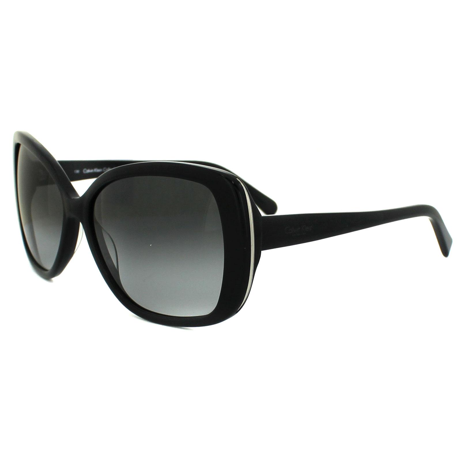 calvin klein sonnenbrille 7859s 001 schwarz grau verlauf ebay. Black Bedroom Furniture Sets. Home Design Ideas