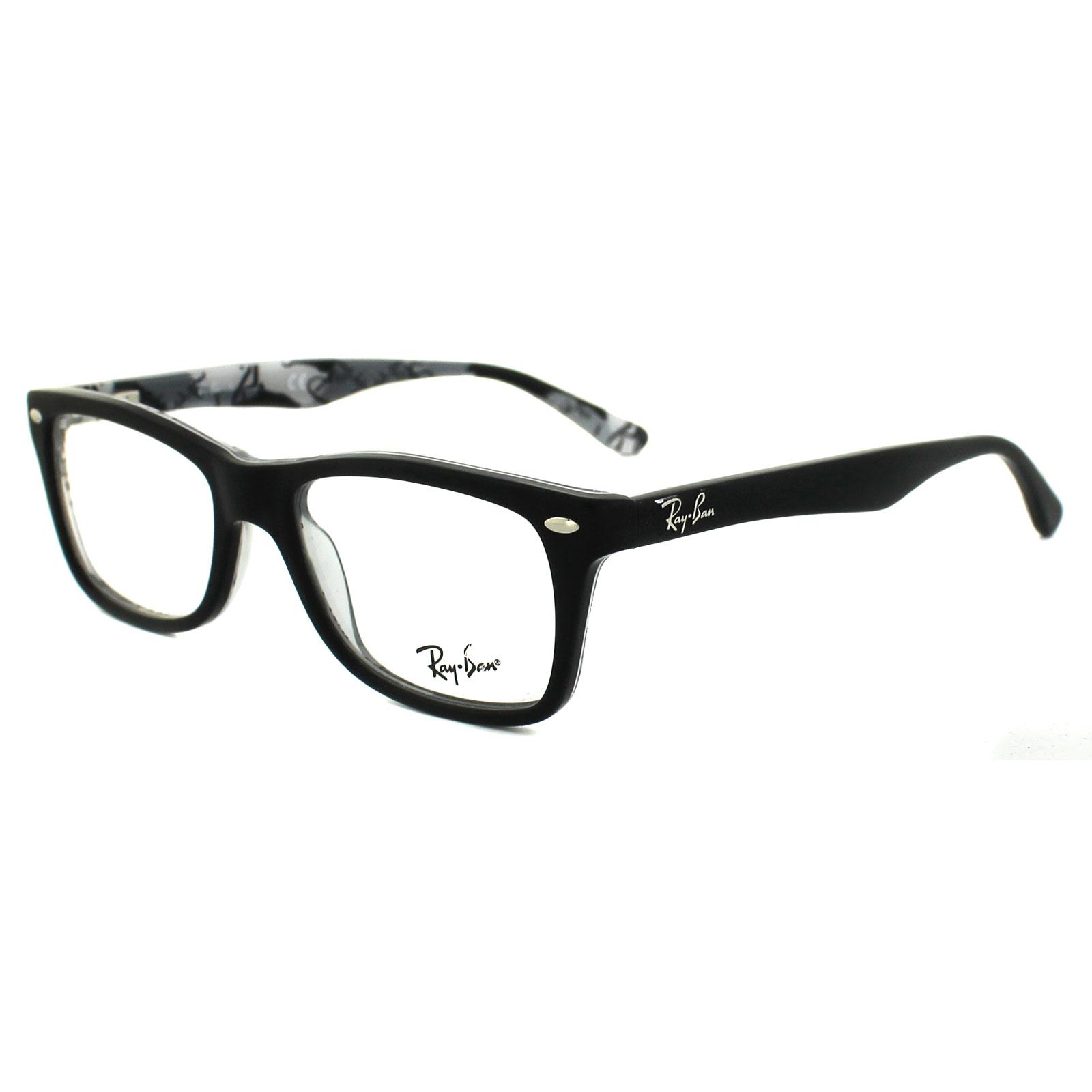 Ray-Ban Glasses Frames 5228 5405 Top Matt Black on Texture ...