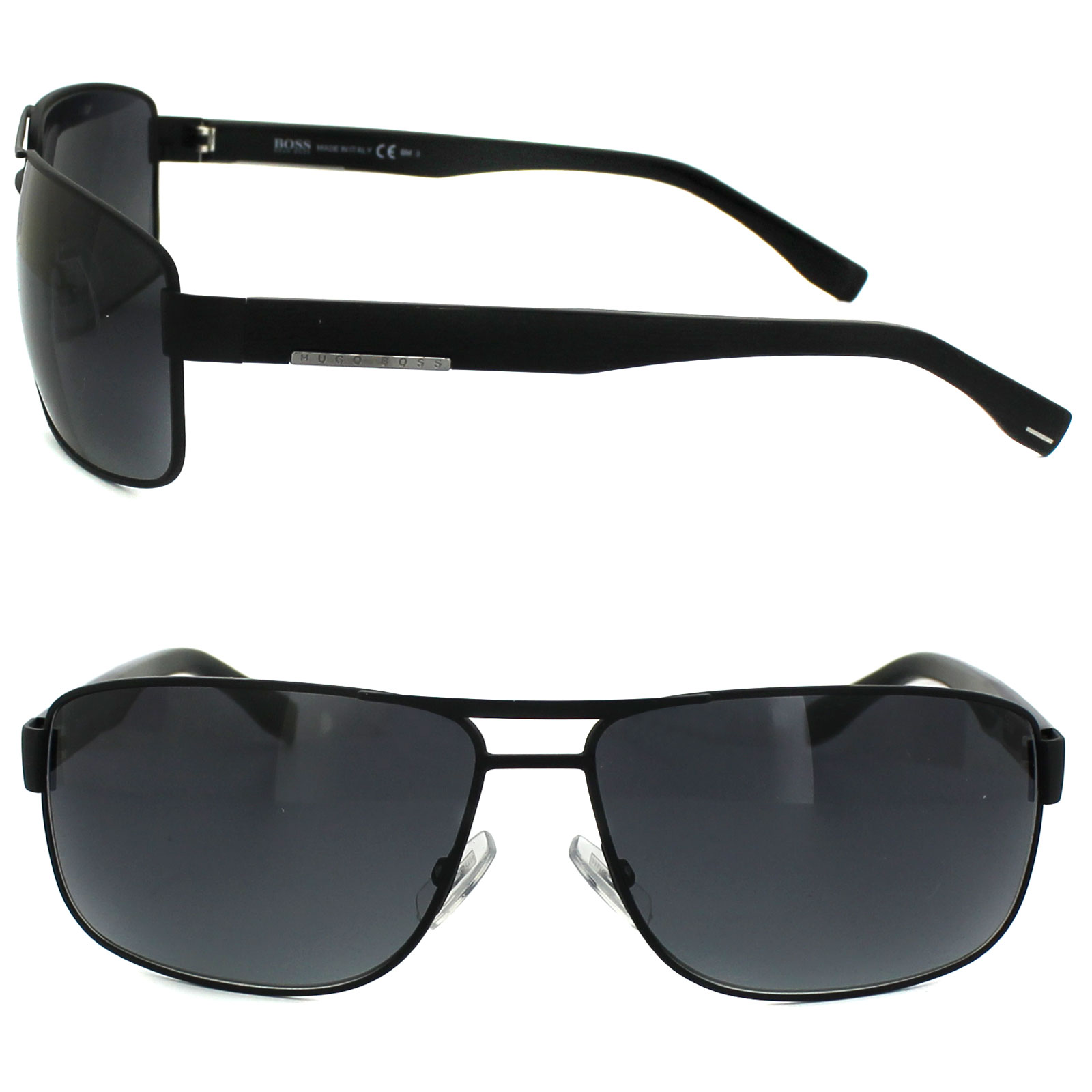 Boss Sunglasses 0668 10G HD Matt Black Grey Gradient