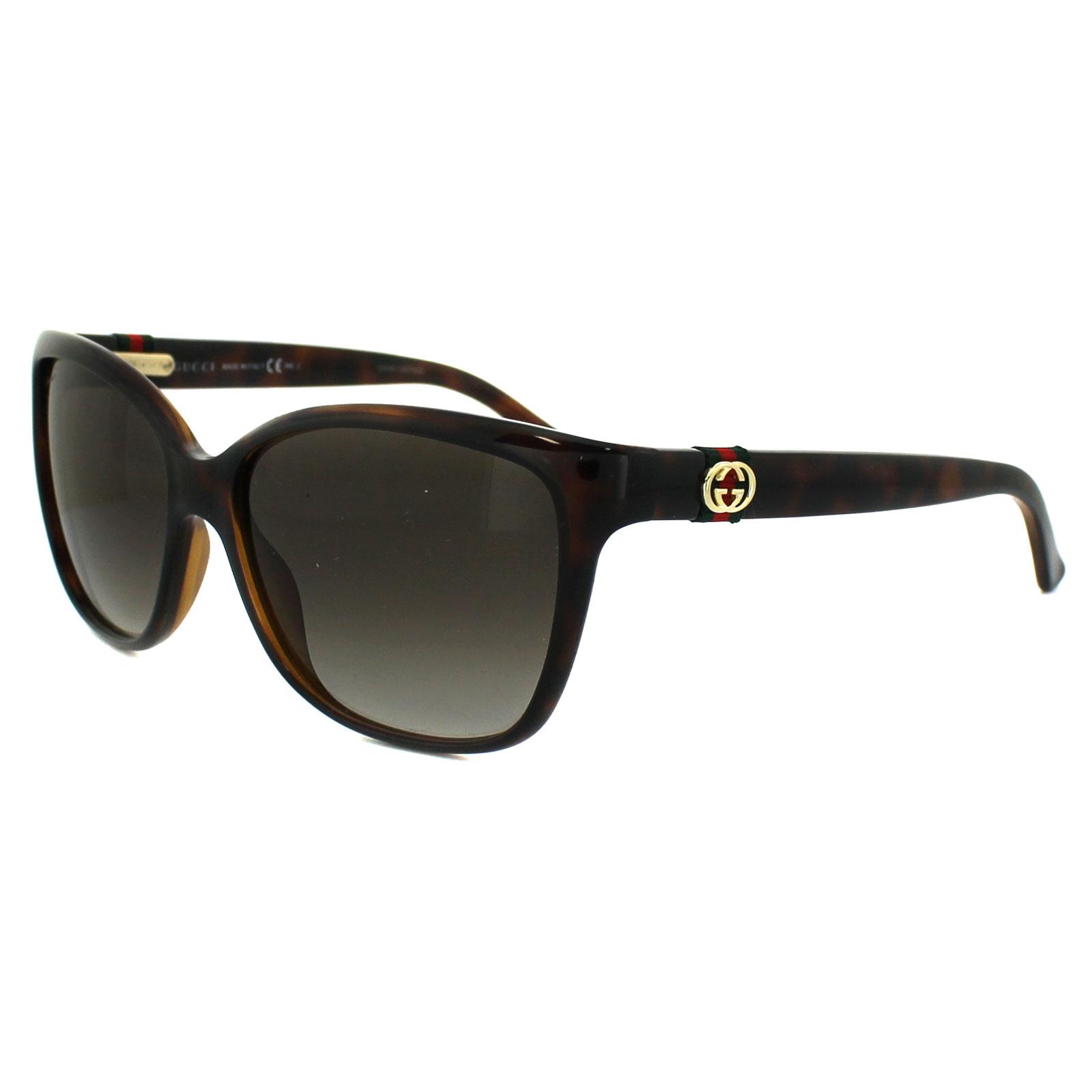 Gucci Gafas de sol 3645 Dwj Ha Havana Marron Degradado | eBay