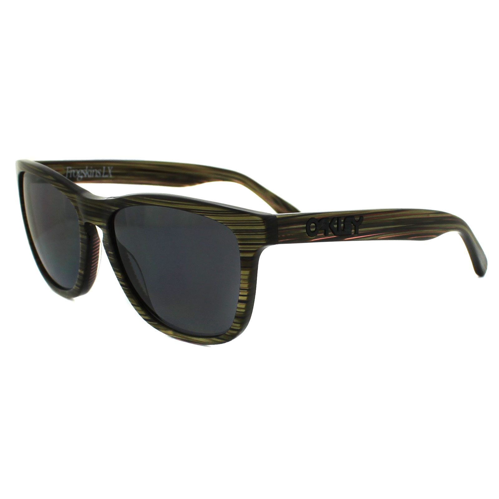 Banded Grey Details Oakley Green Sunglasses Frogskins Oo204309 Polarized About Lx vNynwOm80