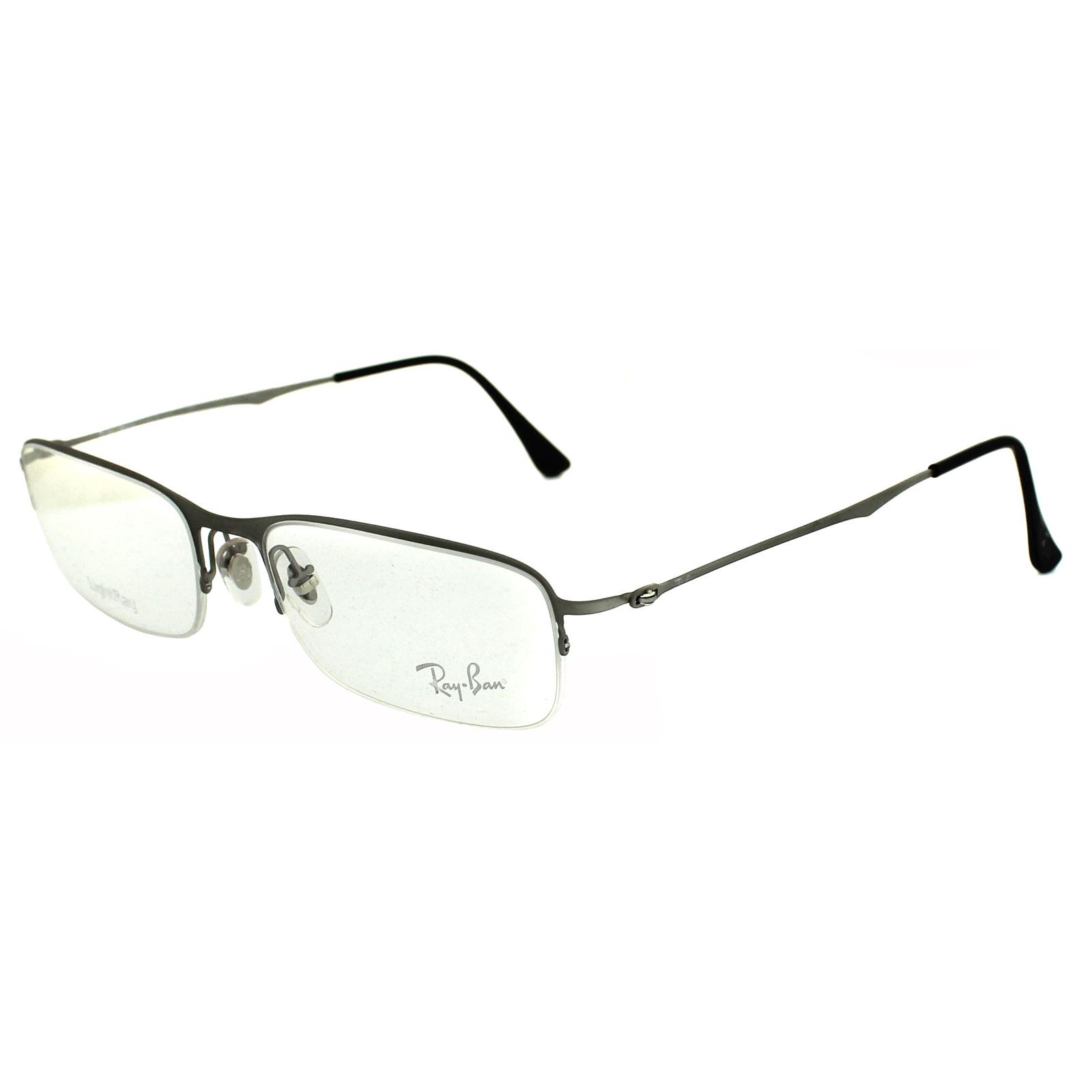 Ray-Ban Glasses Frames 8714 1159 Brushed Titanium 8053672078619 | eBay