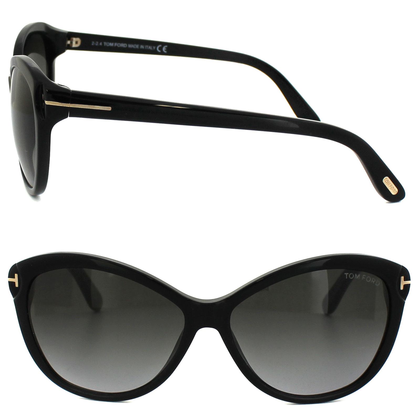 cd8a752751 Sentinel Tom Ford Sunglasses 0325 Telma 01P Shiny Black Green Gradient