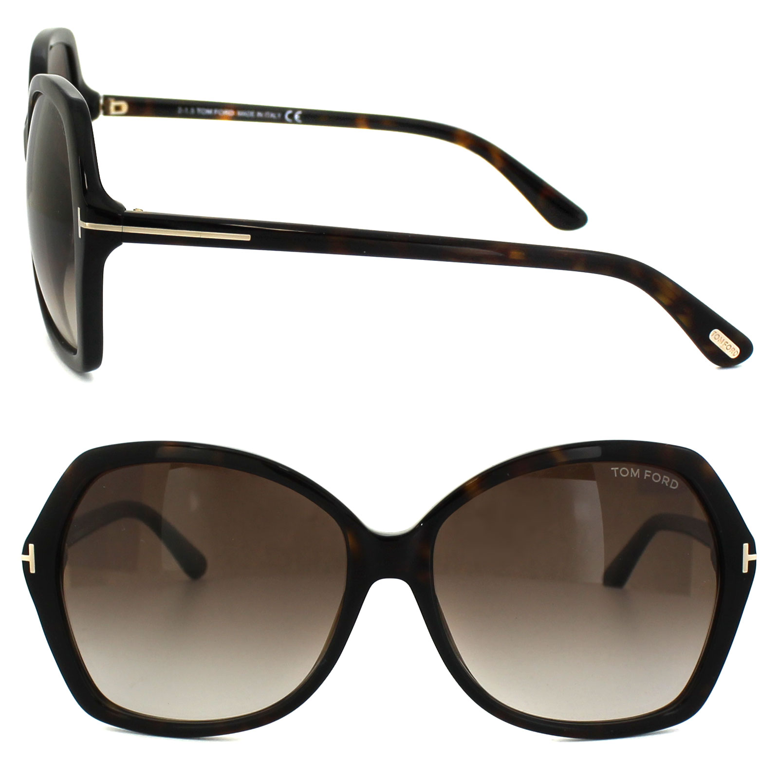 0e9ad4dfa70b Sentinel Tom Ford Sunglasses 0328 Carola 52F Dark Havana Brown Gradient