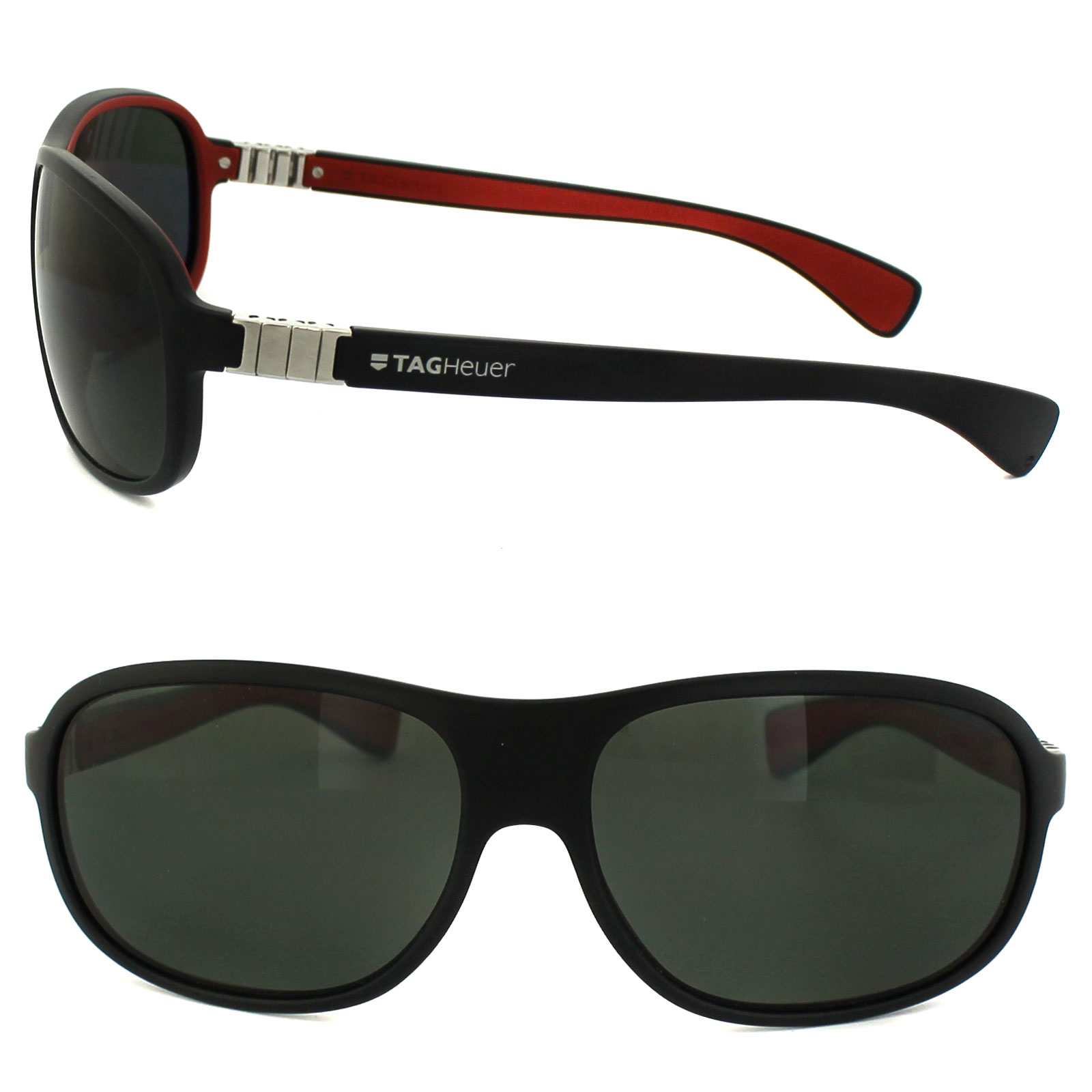 Details about Tag Heuer Sunglasses Legend 9301 102 Pure & Black & Red  Precision Grey Polarized