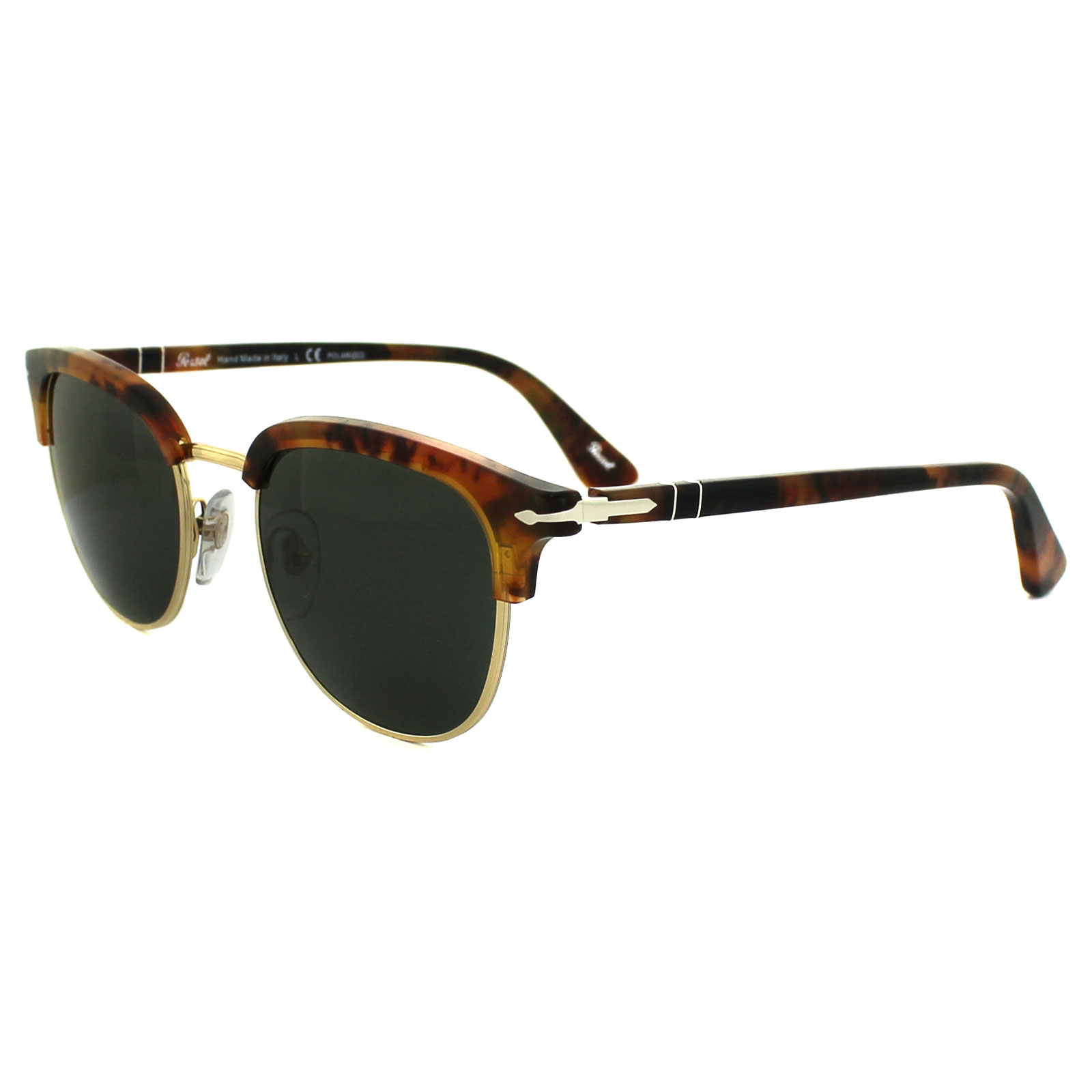 Cheap Persol Sunglasses 3105 108 58 Caffe Brown Green Polarized Discounted Sunglasses