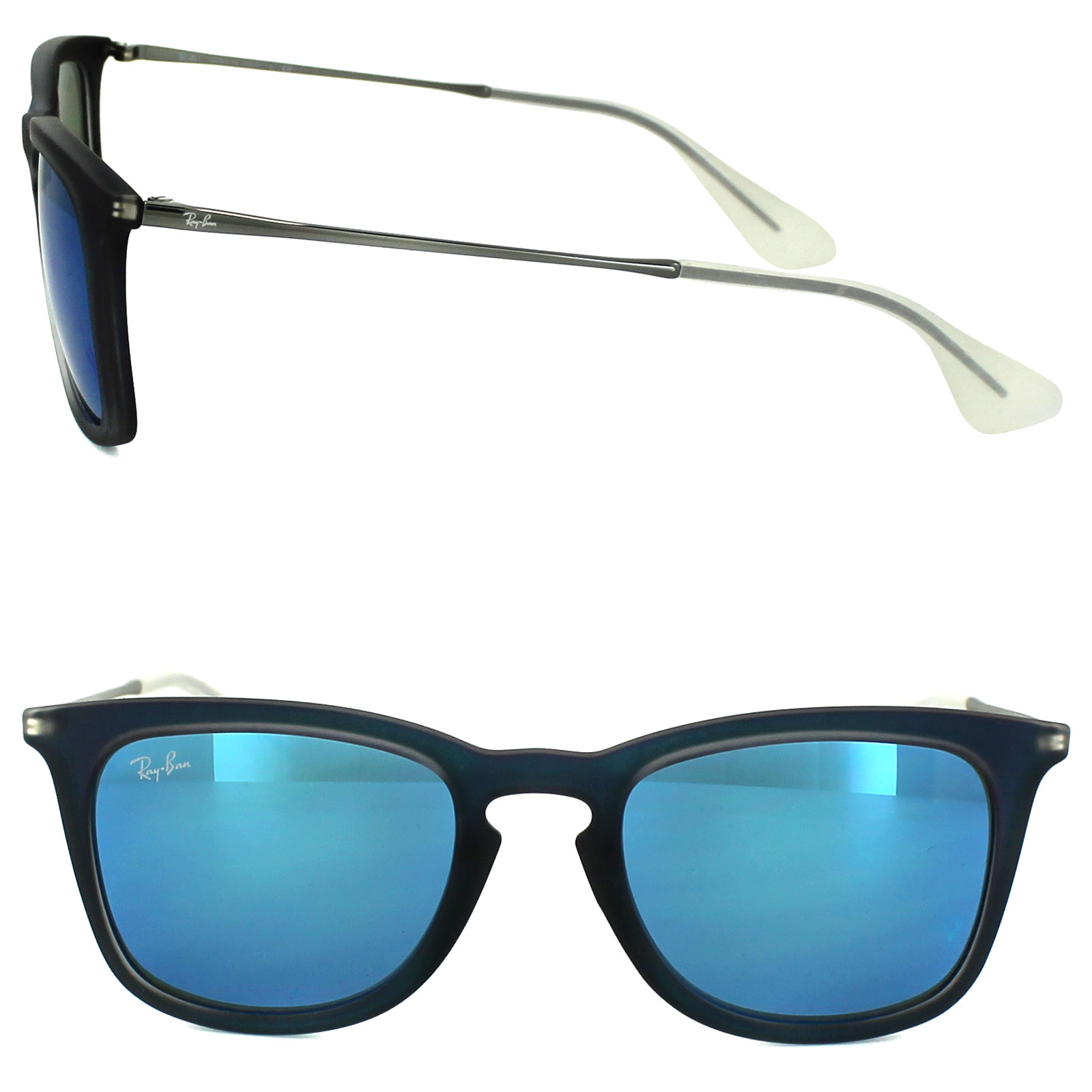 ed32954dc0 Sentinel Ray-Ban Sunglasses 4221 617055 Blue   Gunmetal Blue Mirror