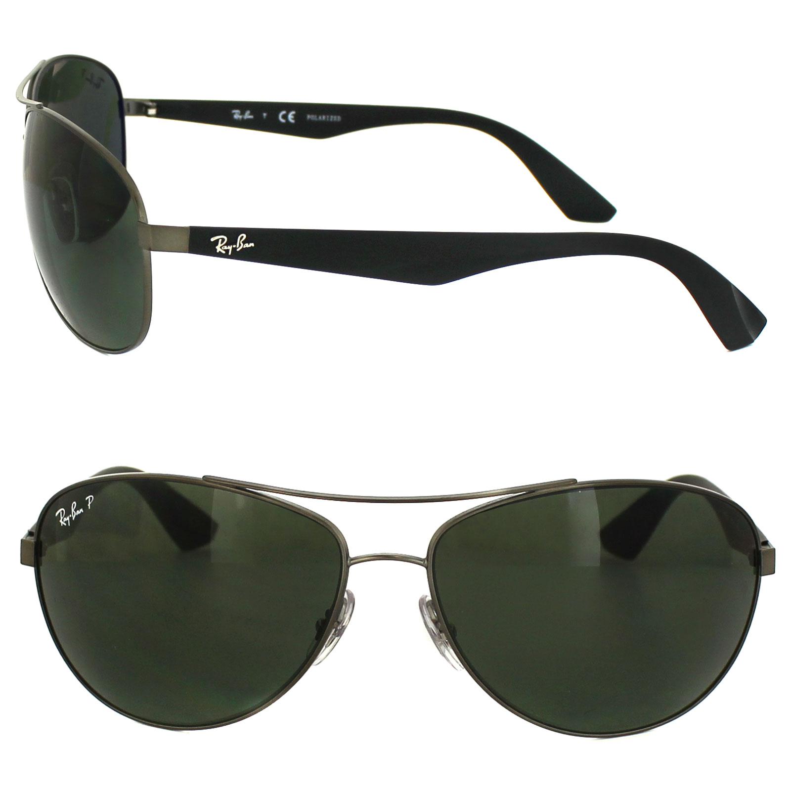 ed61872bcabfd Sentinel Ray-Ban Sunglasses 3526 029 9A Gunmetal   Black Green Polarized