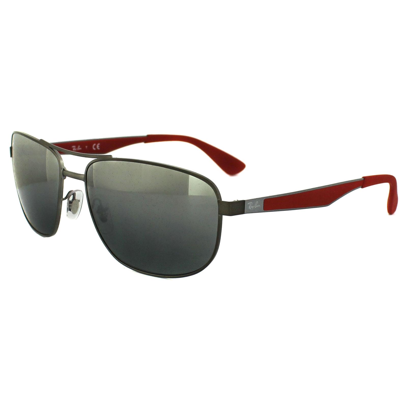e0016cdb678 Sentinel Ray-Ban Sunglasses 3528 029 88 Matt Gunmetal Grey Grey Silver  Mirror Gradient