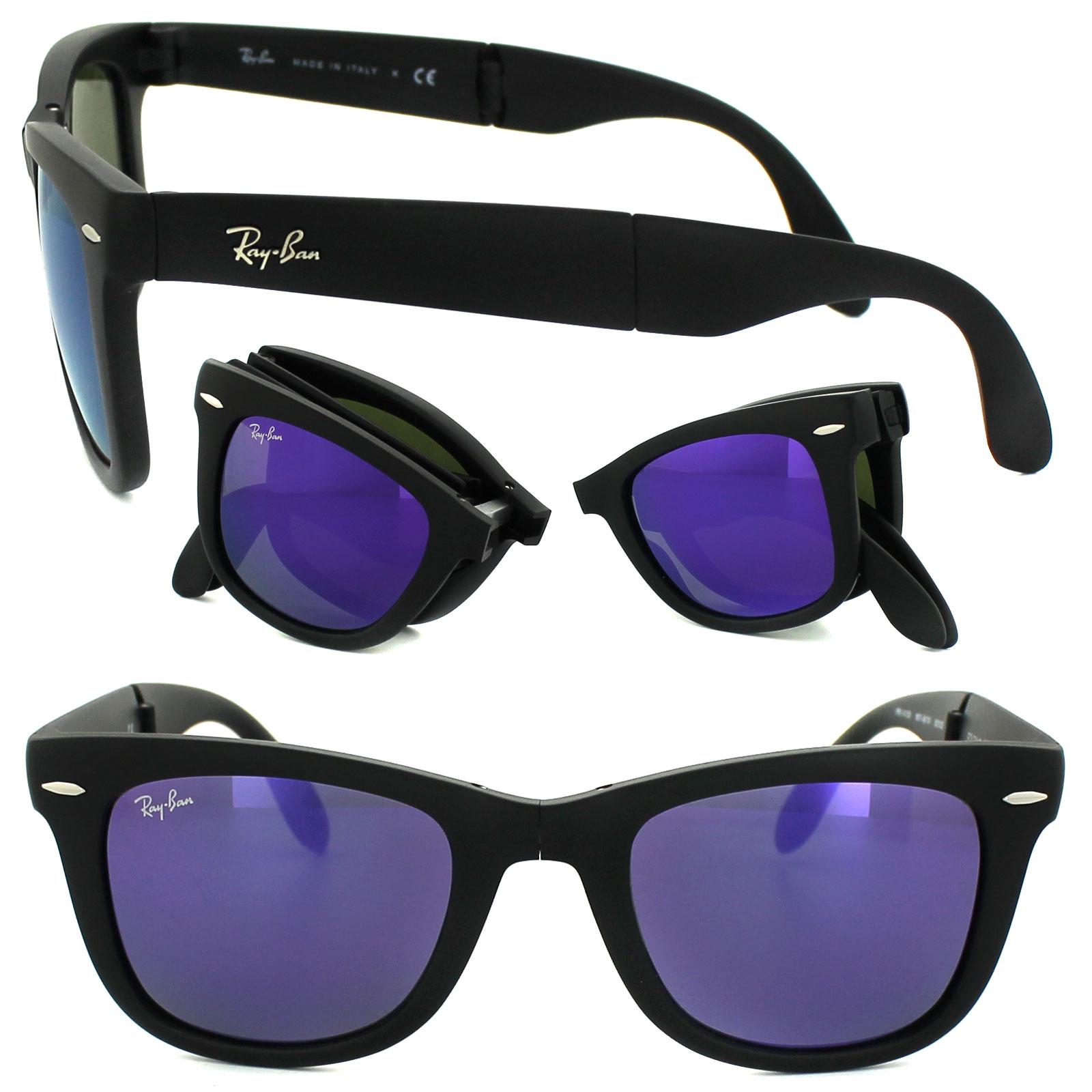 ray ban sonnenbrille folding wayfarer 4105 601s1m schwarz. Black Bedroom Furniture Sets. Home Design Ideas