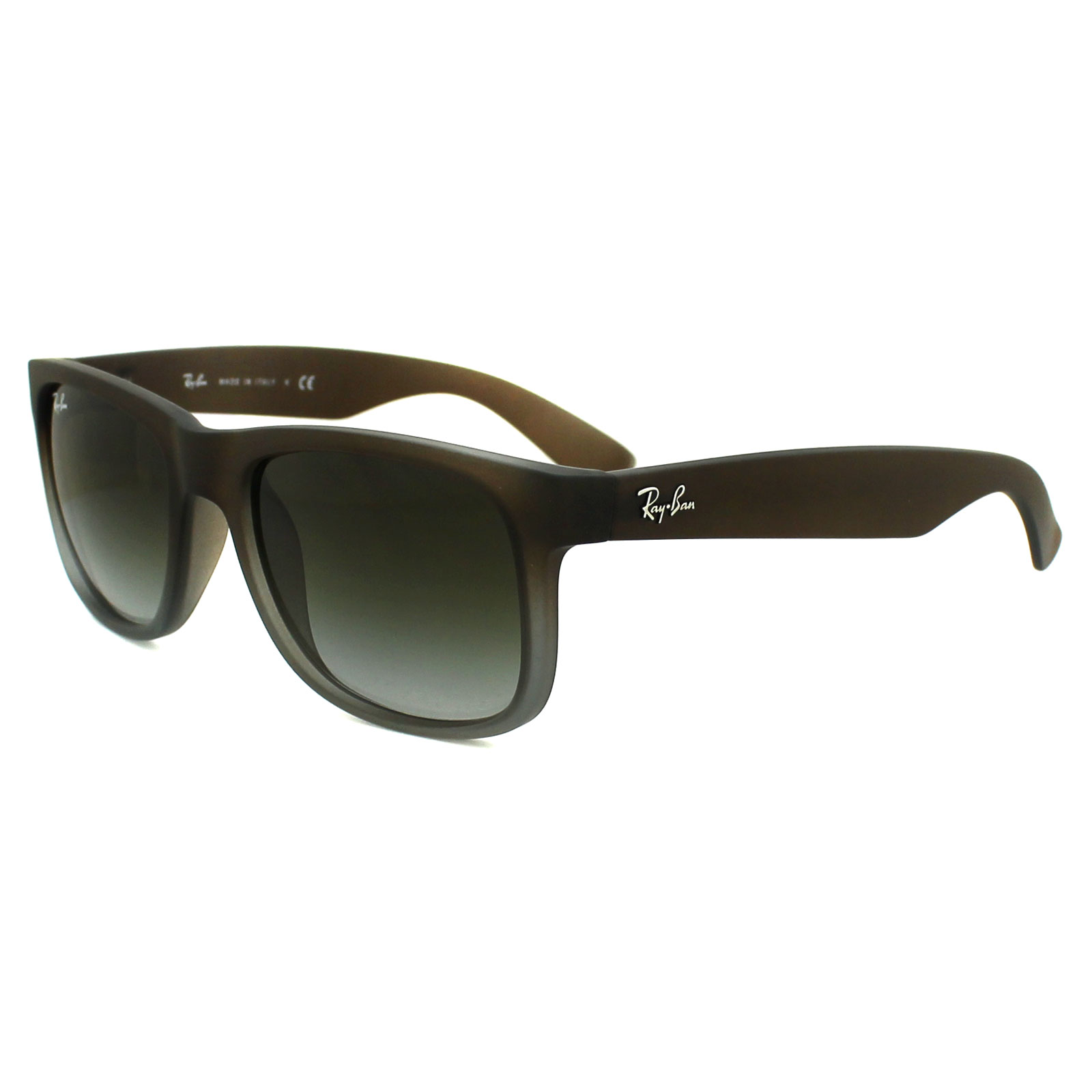 5d730d85c5 Sentinel Ray-Ban Sunglasses Justin 4165 854 7Z Rubber Brown Fade Green  Gradient Small