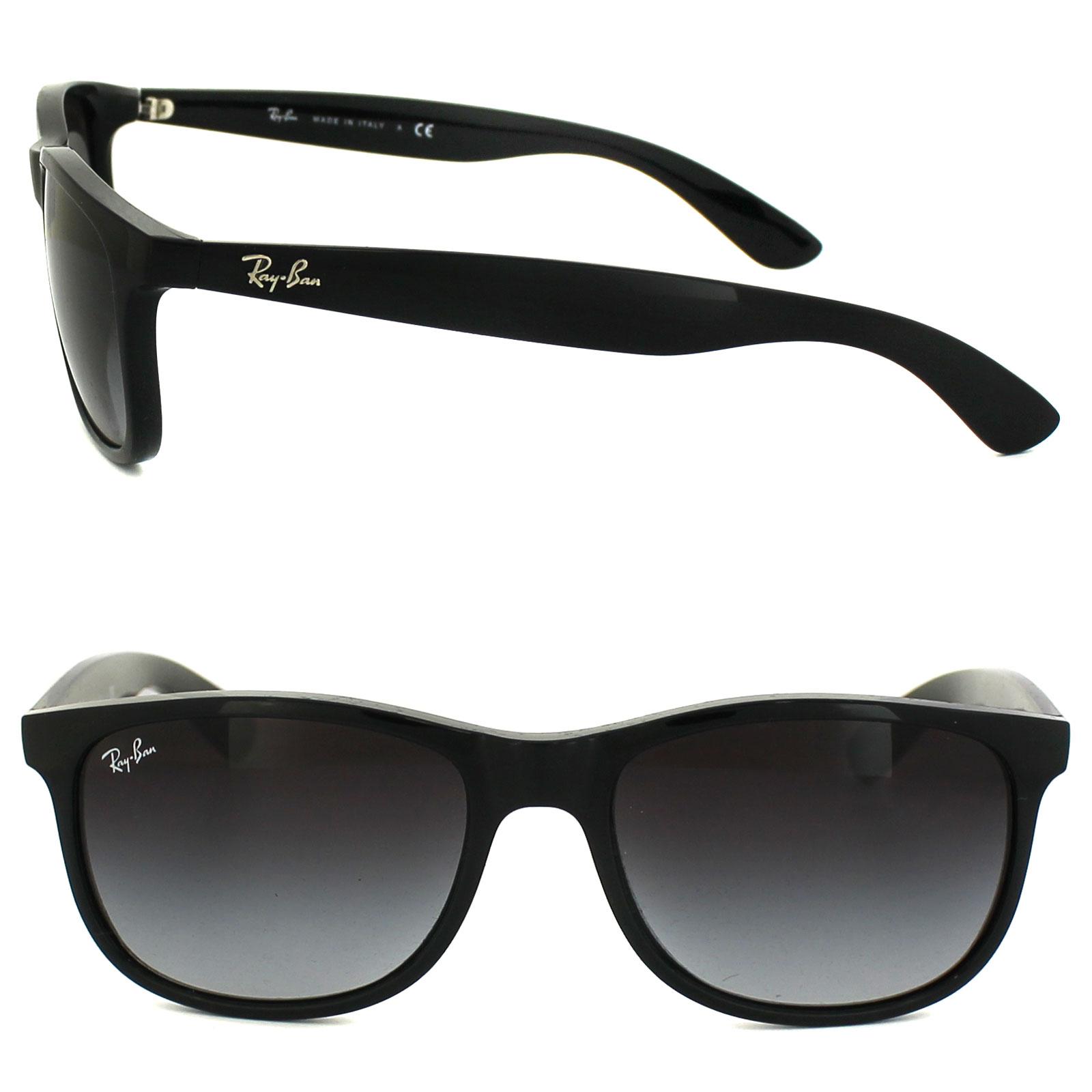RAY BAN RAY-BAN Herren Sonnenbrille »ANDY RB4202«, schwarz, 601/8G - schwarz/grau
