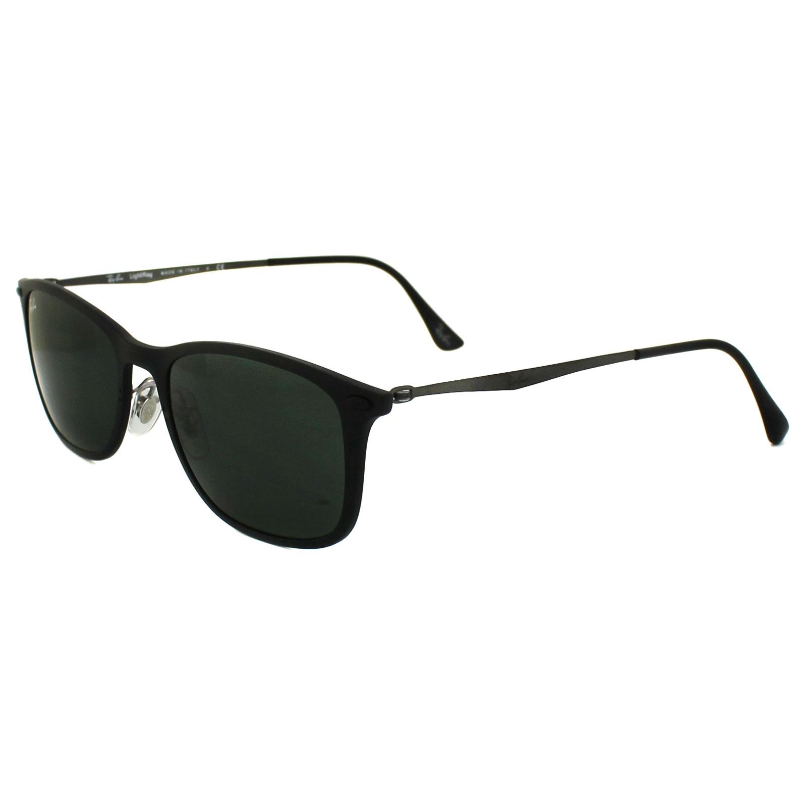b414c4eb4825a Sentinel Ray-Ban Sunglasses New Wayfarer Light Ray 4225 601S71 Black   Grey  Green