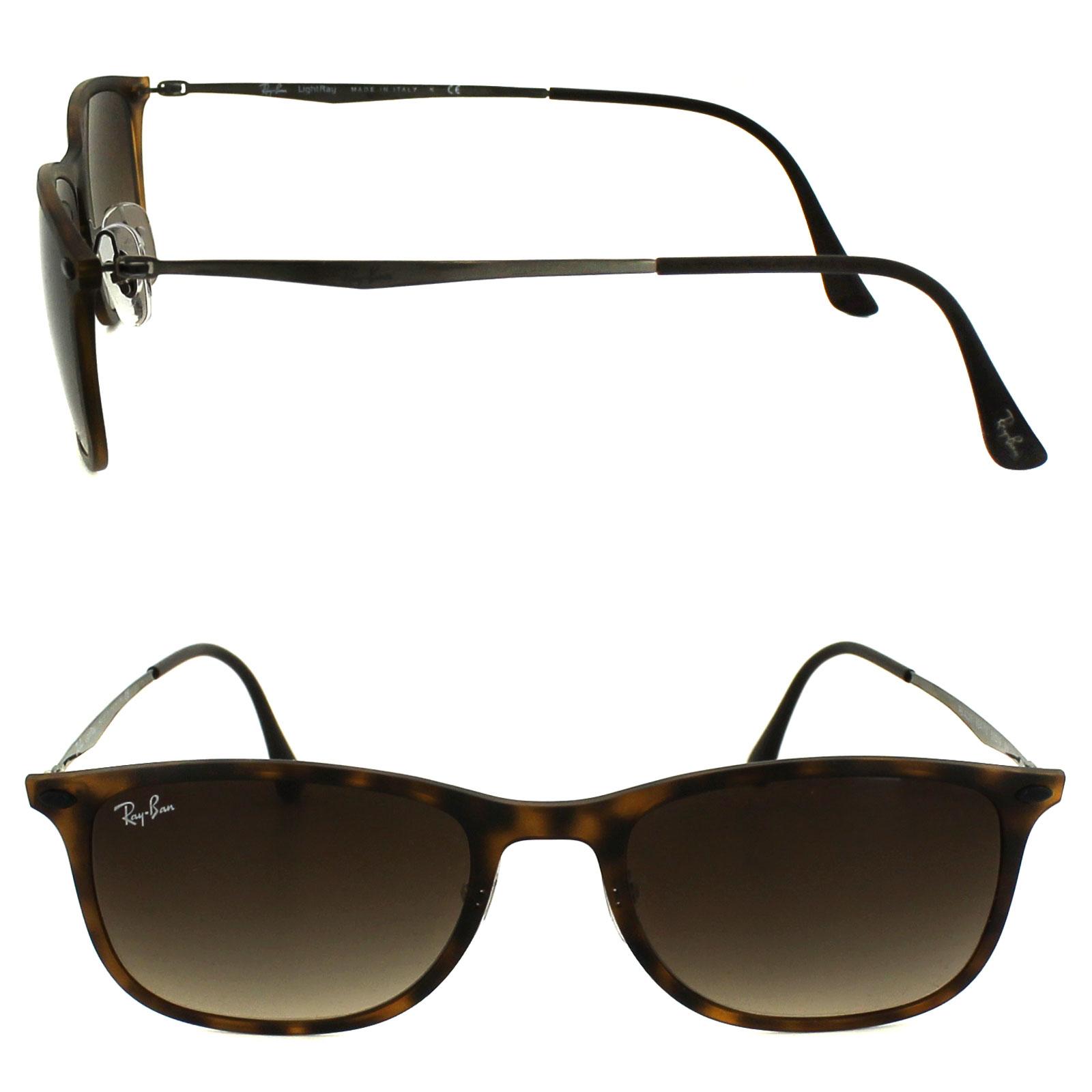 db529c5cb5df7 Sentinel Ray-Ban Sunglasses New Wayfarer Light Ray 4225 894 13 Tortoise  Brown Gradient