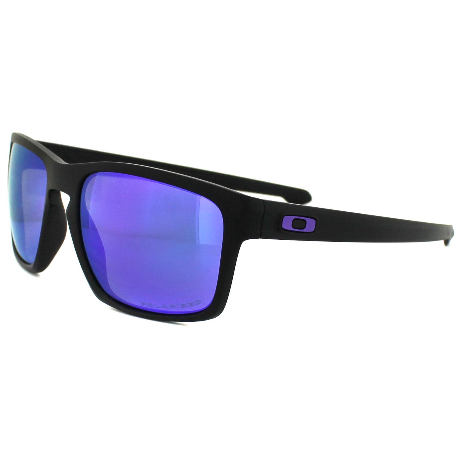 Sentinel Oakley Sunglasses Sliver OO9262-10 Matt Black Violet Iridium  Polarized 6d51ef07ab