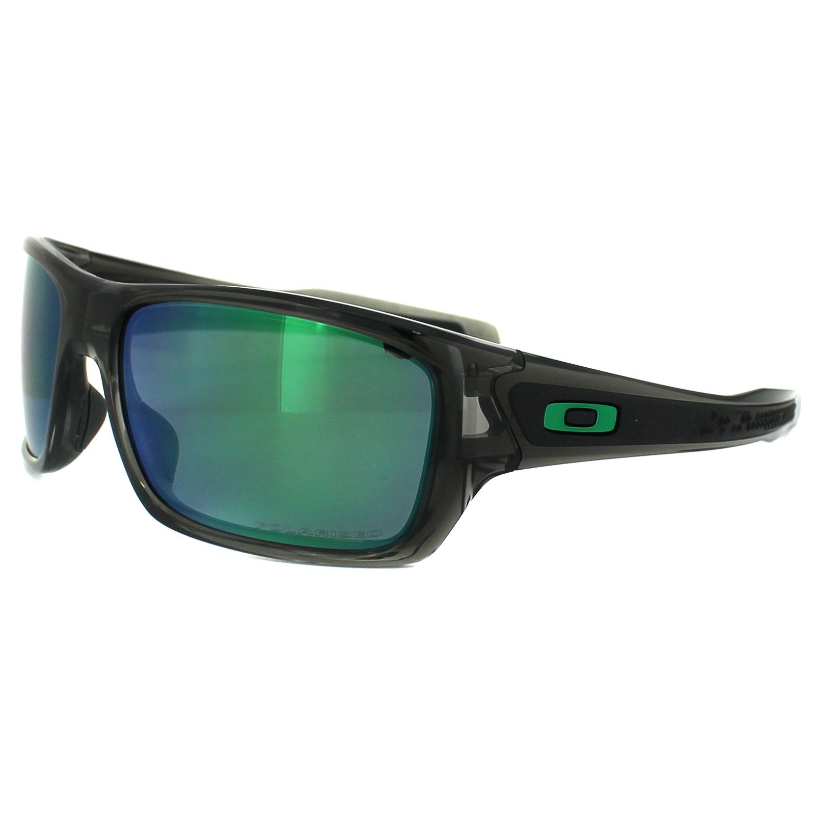 5e6fa182b9 Sentinel Oakley Sunglasses Turbine OO9263-09 Grey Smoke Jade Iridium  Polarized