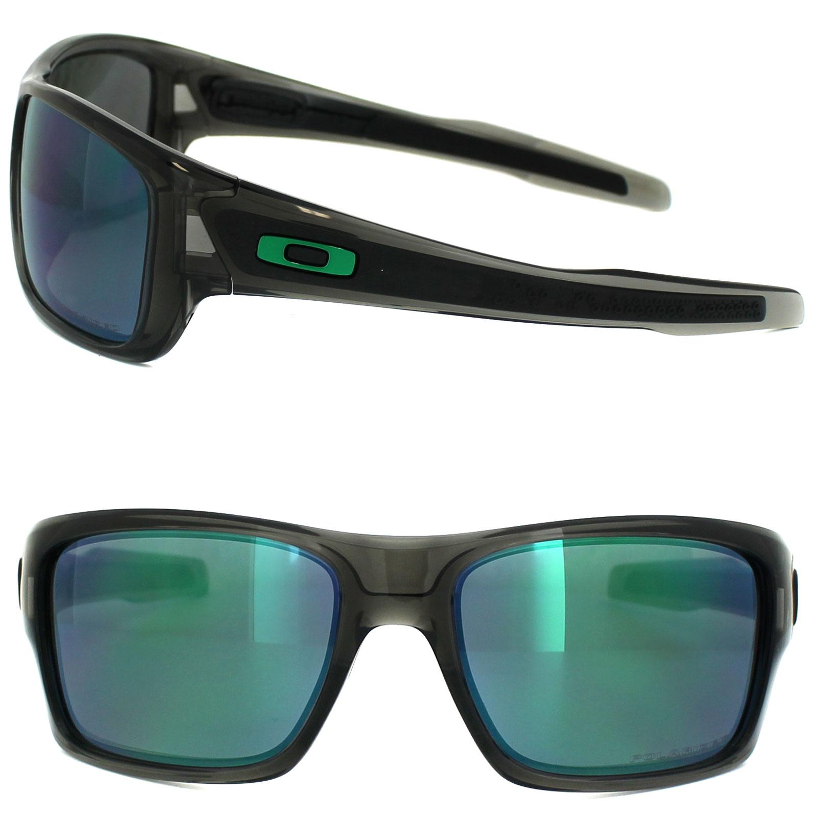 7faa0e4403e Sentinel Oakley Sunglasses Turbine OO9263-09 Grey Smoke Jade Iridium  Polarized