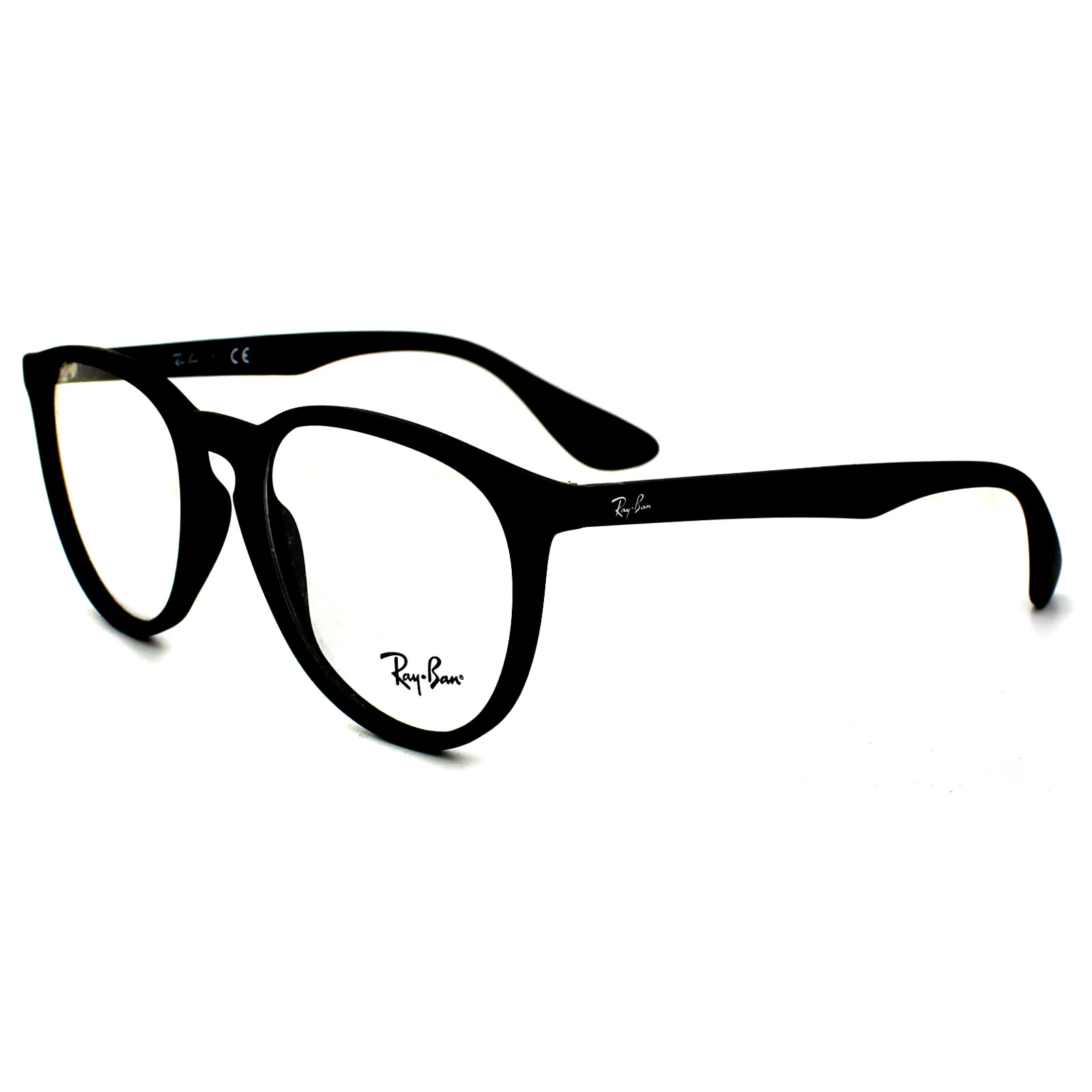 Ray-Ban Glasses Frames 7046 5364 Rubberised Black Clear | eBay