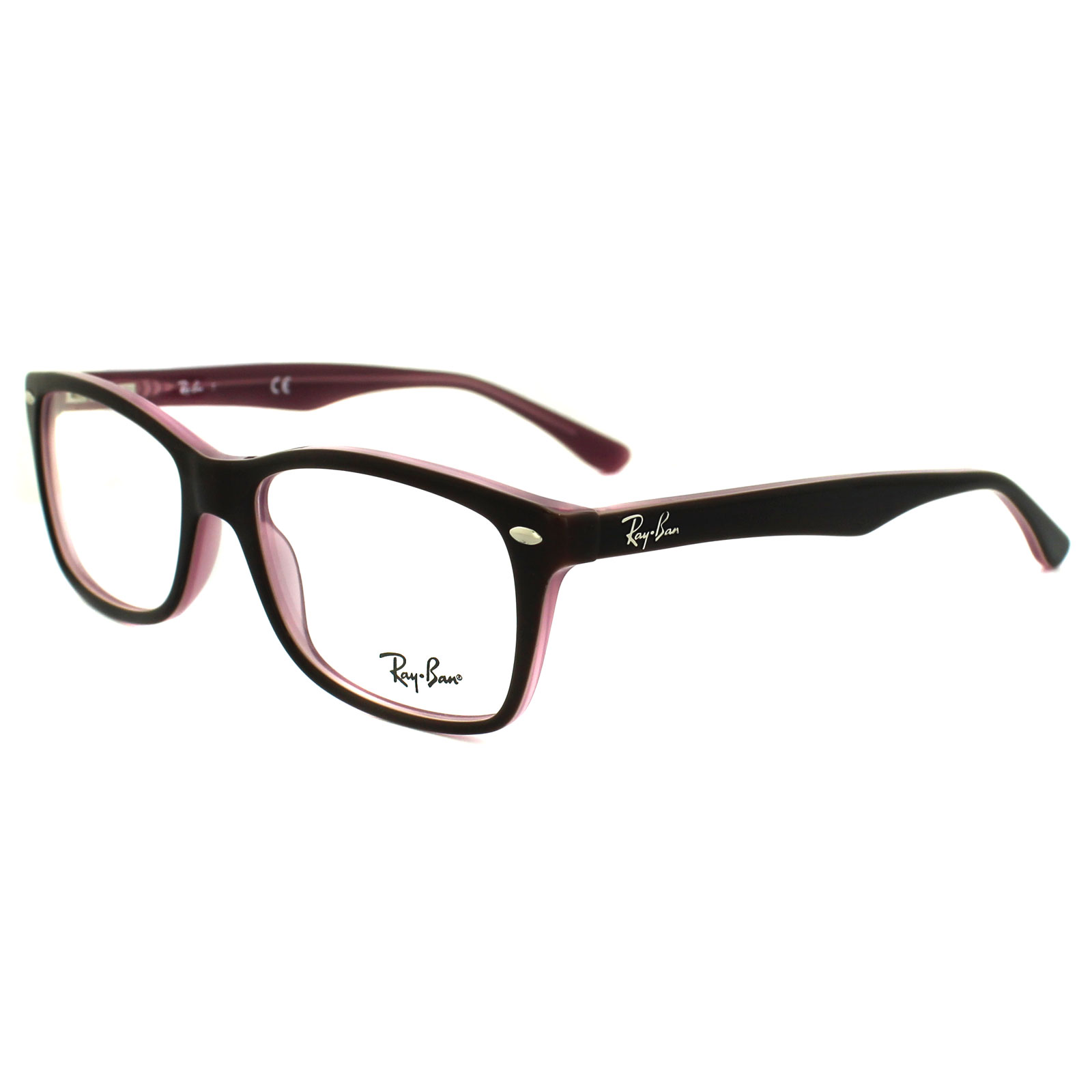 Ray-Ban Glasses Frames 5228 2126 Top Brown on Opal Pink Clear 53mm ...