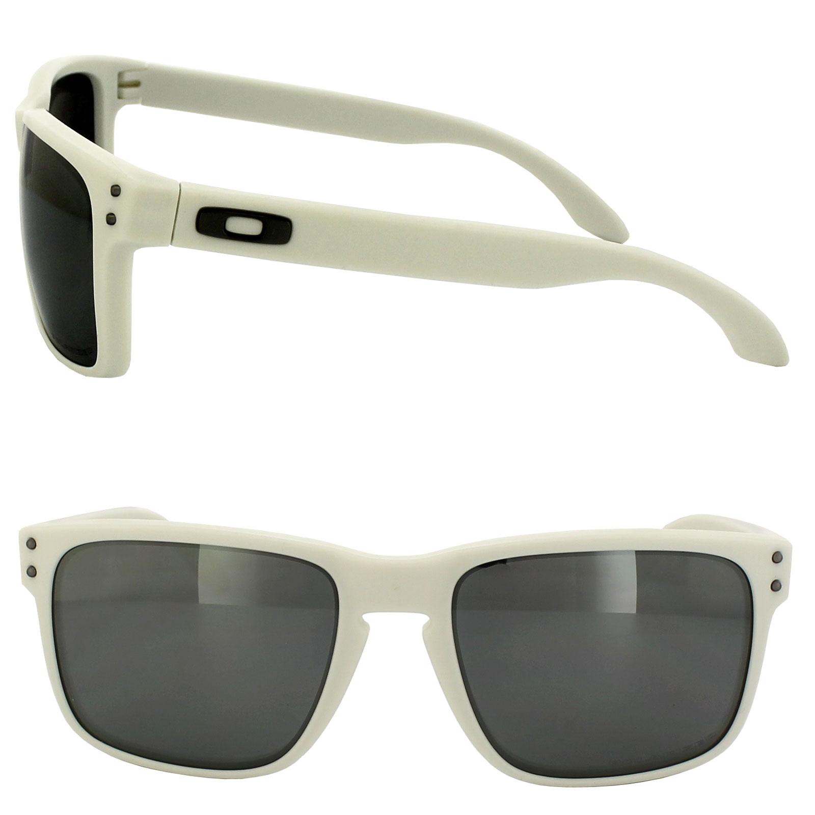 ... Oakley Sunglasses Holbrook 9102-71 Matt Cloud White Black Iridium  Polarized Thumbnail 2 ...