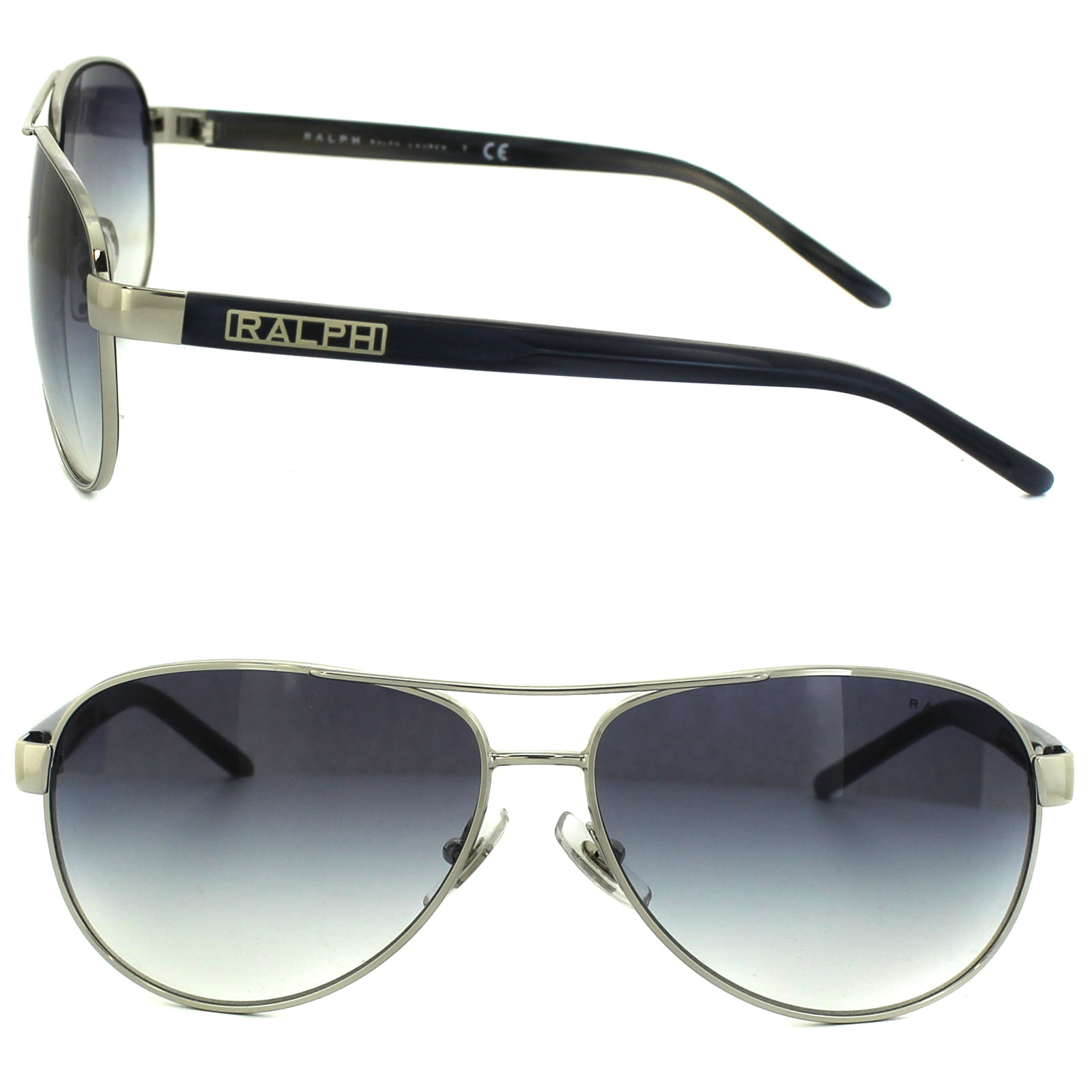 39b03fb4ac Sentinel Ralph by Ralph Lauren Sunglasses 4004 102 19 Silver   Blue Grey  Light Blue Gradi