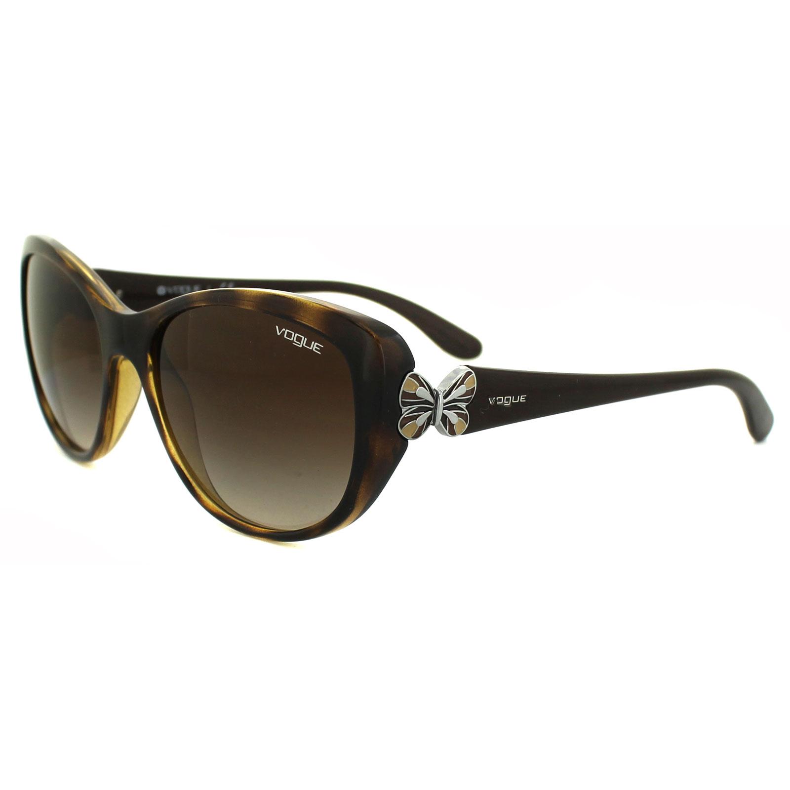 0669ac421c Sentinel Vogue Sunglasses 2944S W65613 Dark Havana Brown Gradient