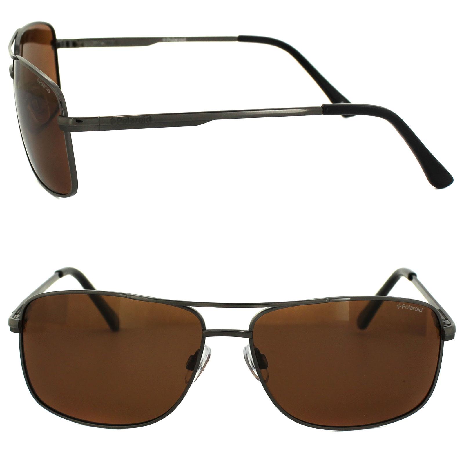 Sentinel Polaroid Sunglasses P4409 BC5 HE Gunmetal Copper Polarized d2f9cf7932