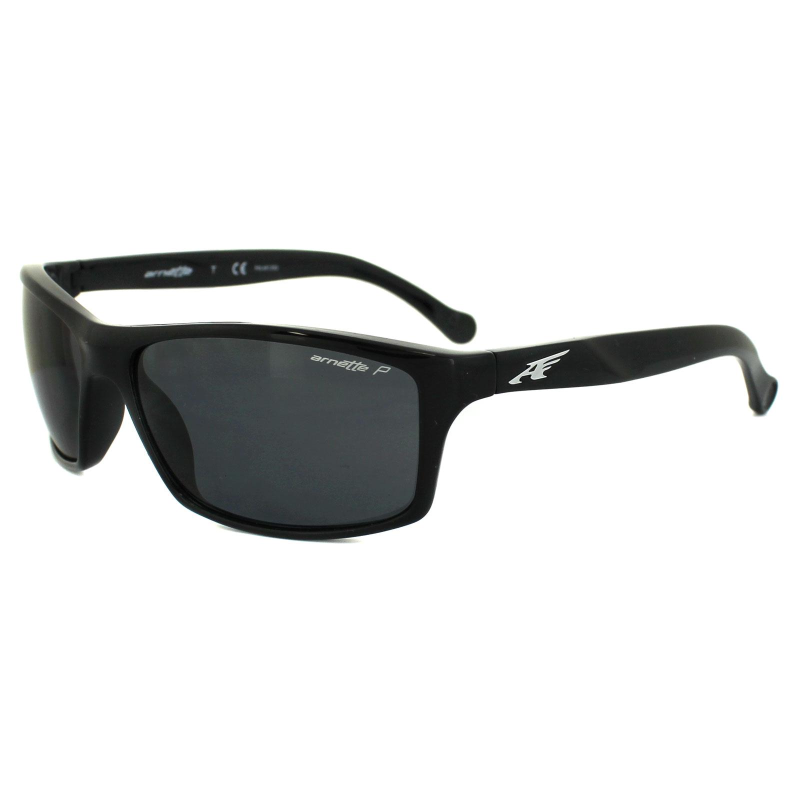 Arnette Herren Sonnenbrille »BOILER AN4207«, schwarz, 41/81 - schwarz/grau