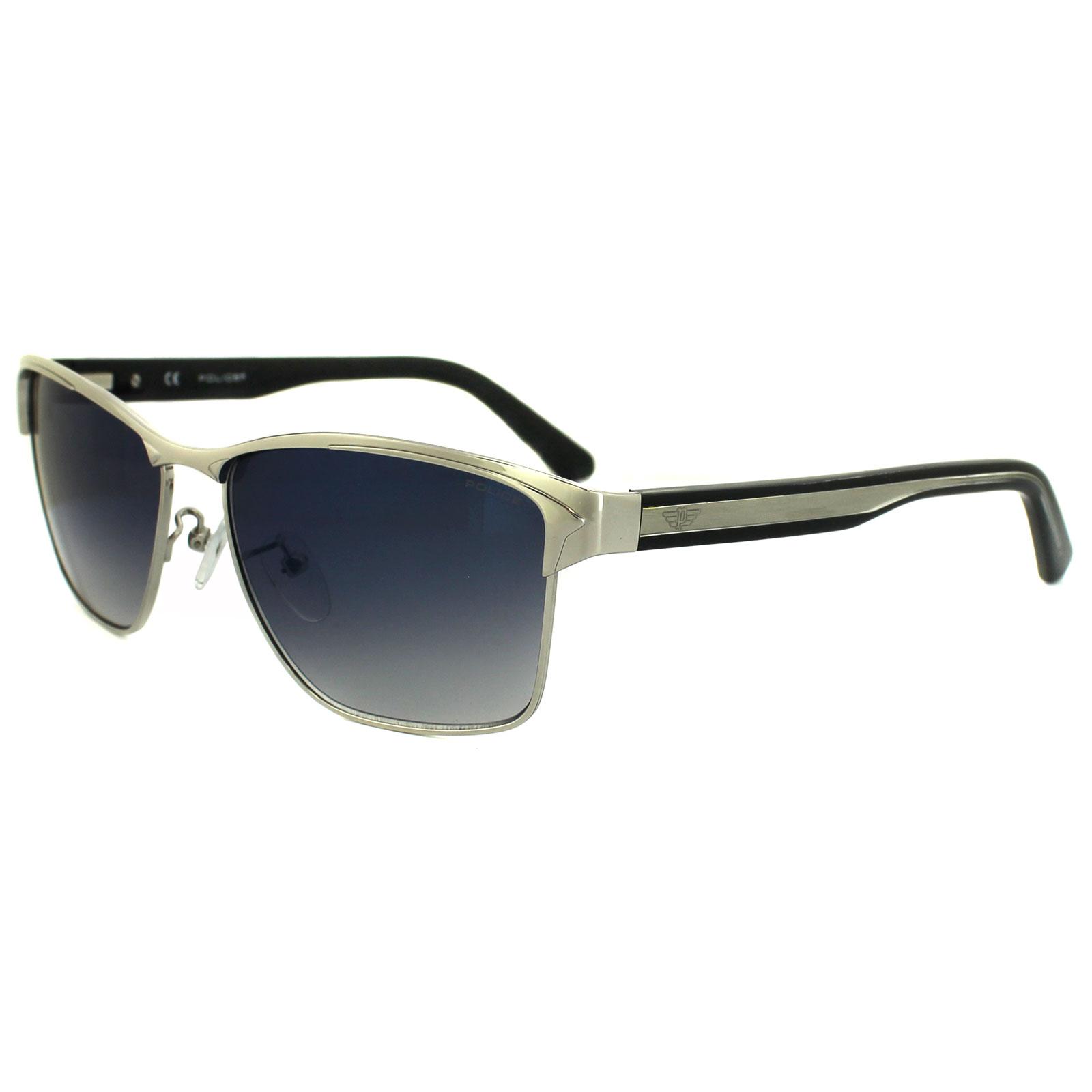 45d056a45cd Police Sunglasses Glider 2 8851 579B Palladium   Black Blue Mirror Gradient  Thumbnail ...