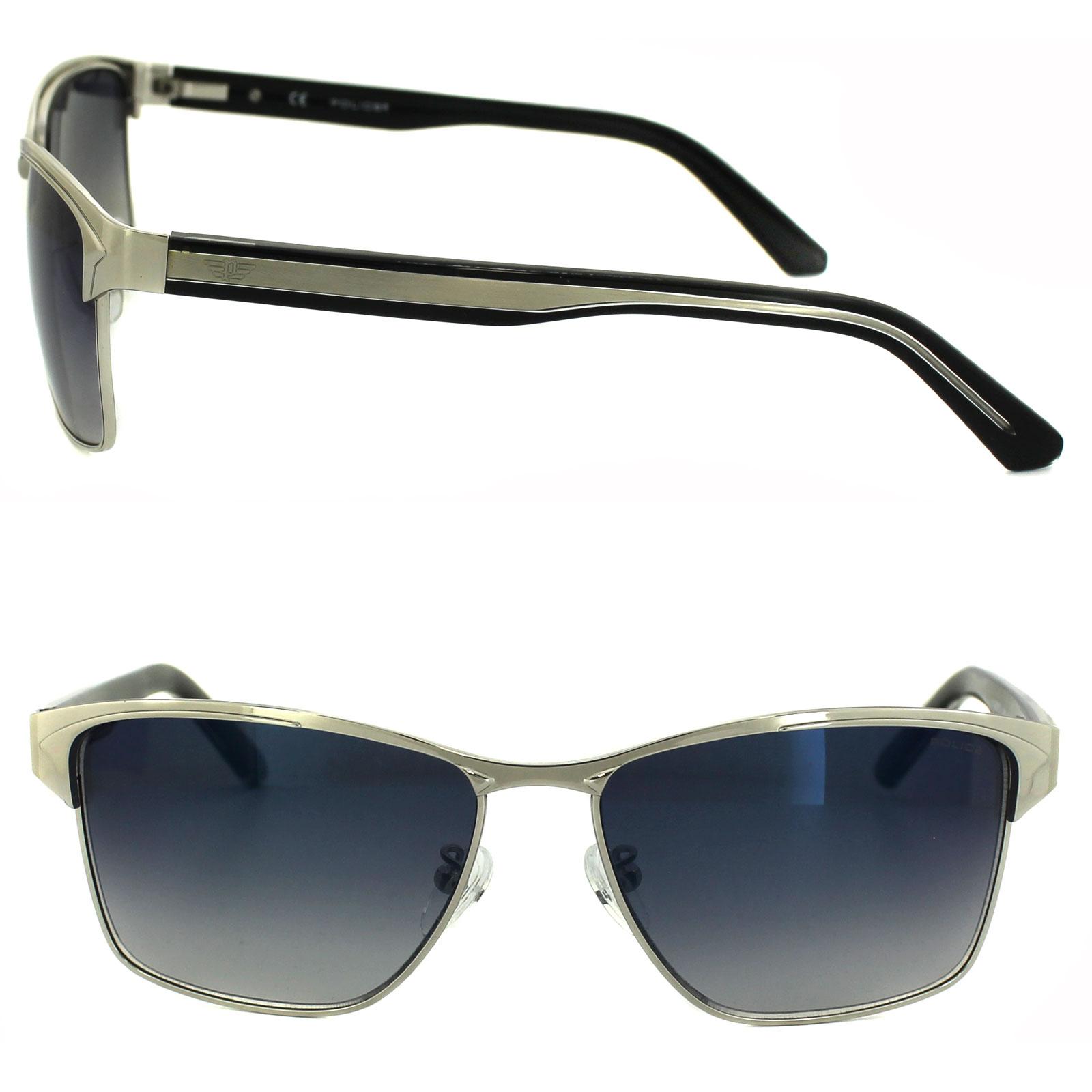 75d3e70131a ... Police Sunglasses Glider 2 8851 579B Palladium   Black Blue Mirror  Gradient Thumbnail ...