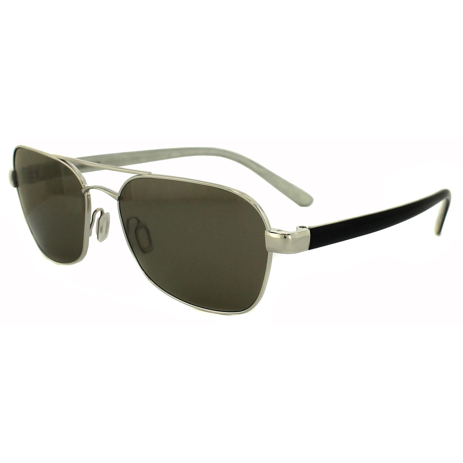6ce7965dd10a9 Sentinel Serengeti Sunglasses Volterra 7596 Shiny Silver Grey Green 555nm