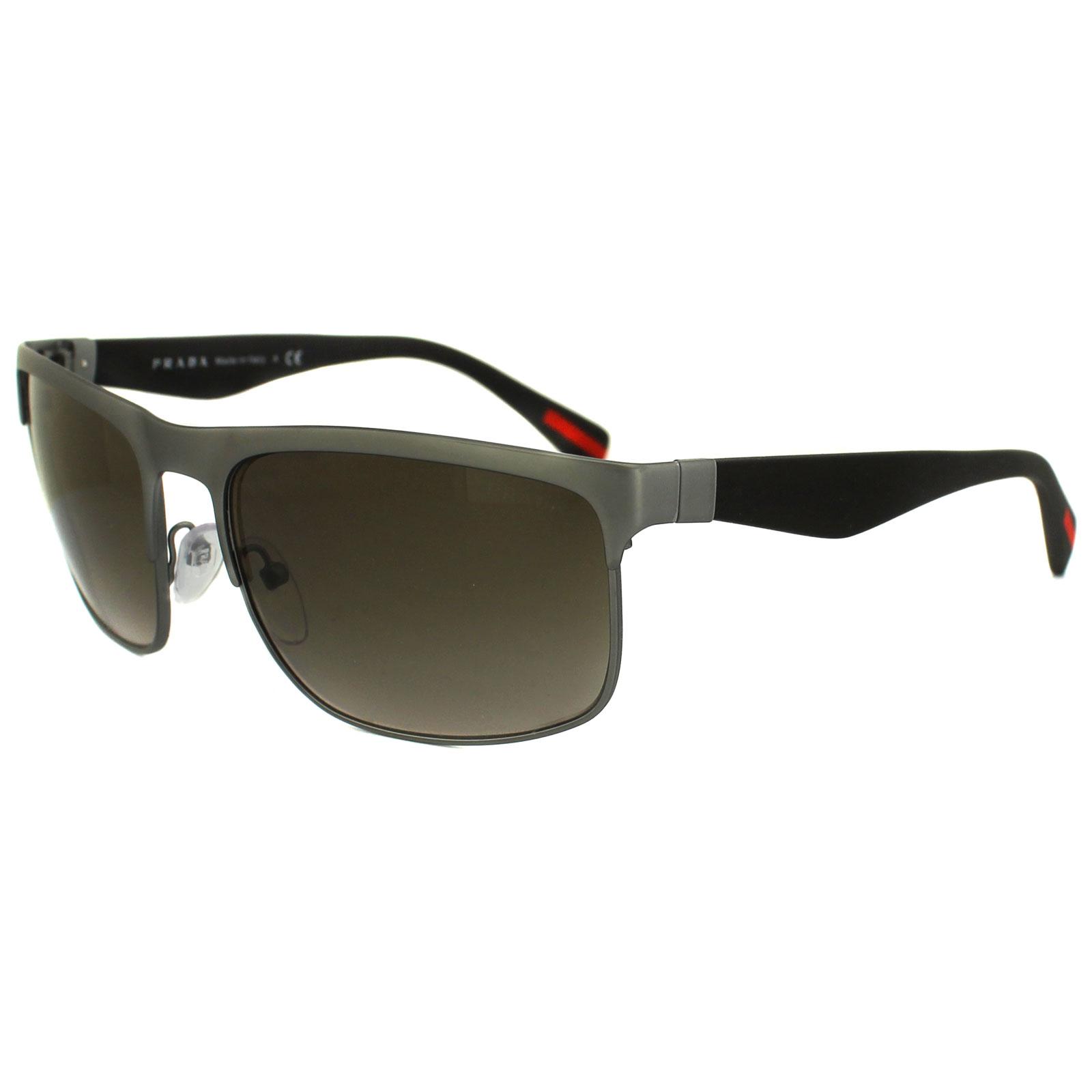 d5ded99d5eceb Sentinel Prada Sport Sunglasses 56PS DG11X1 Rubber Gunmetal Brown Gradient