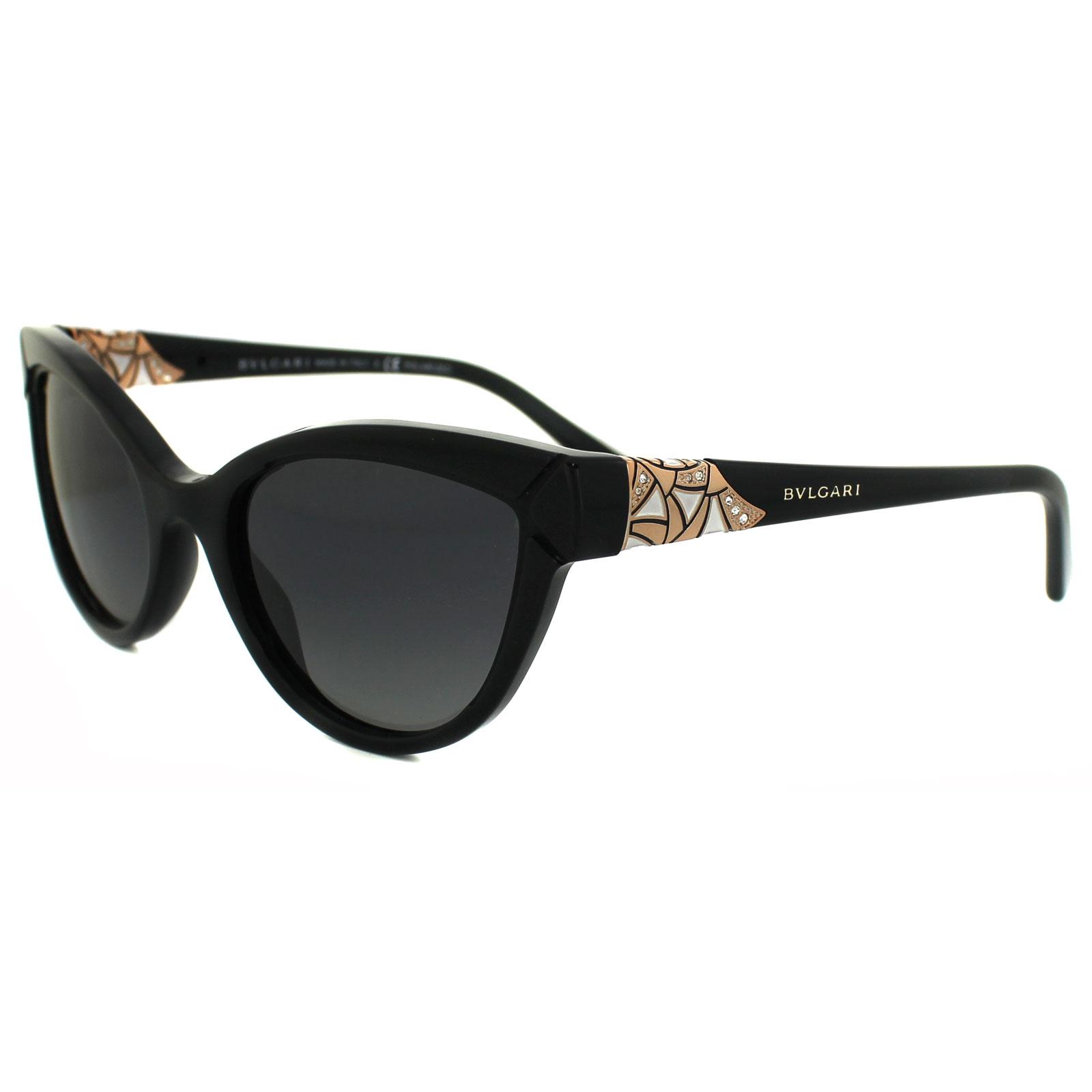 edc8a2b91b Sentinel Bvlgari Sunglasses 8156B 501 T3 Black Grey Gradient Polarized