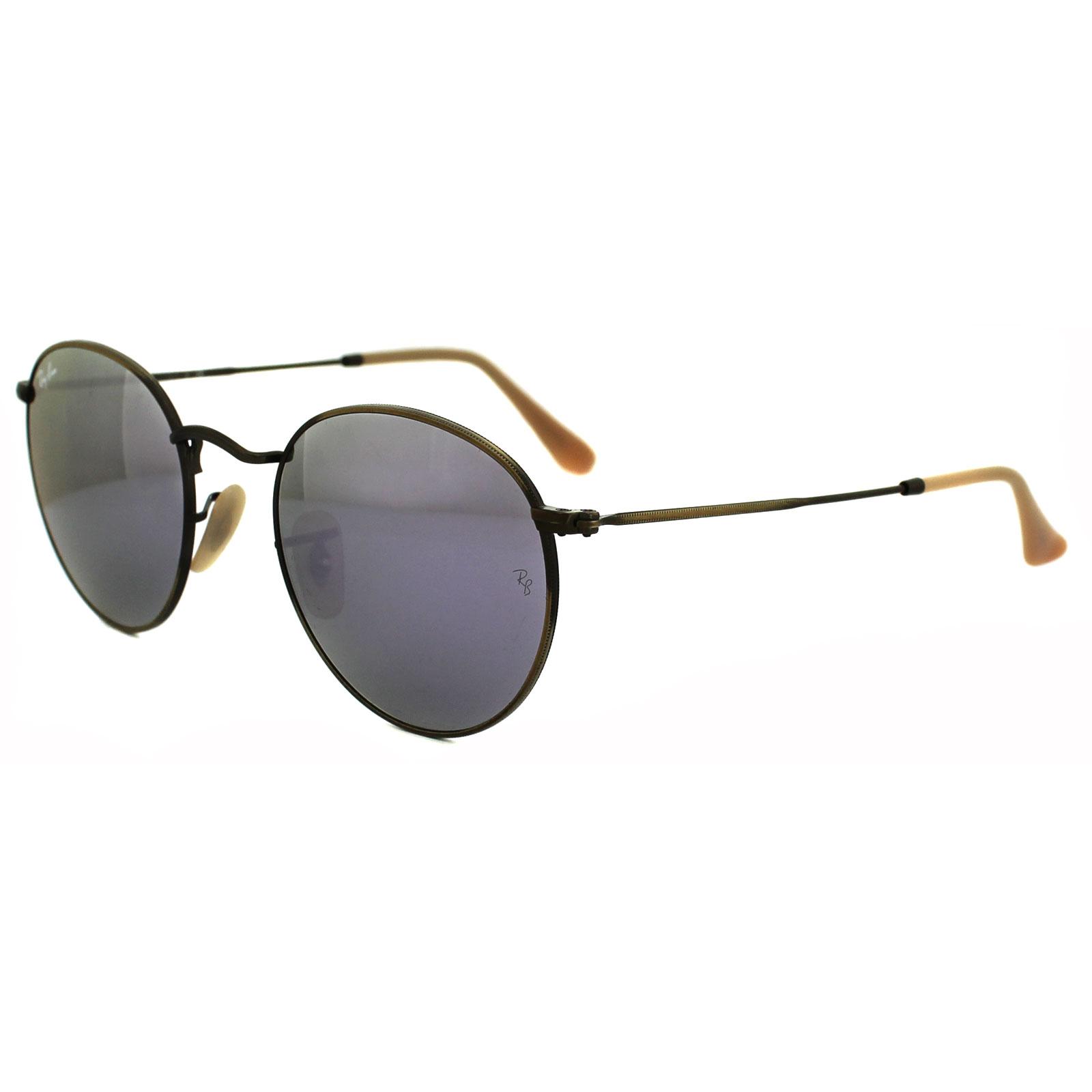 Sentinel Ray-Ban Sunglasses Round Metal 3447 167 4K Bronze Copper Lilac  Mirror 50mm b864d2ca37