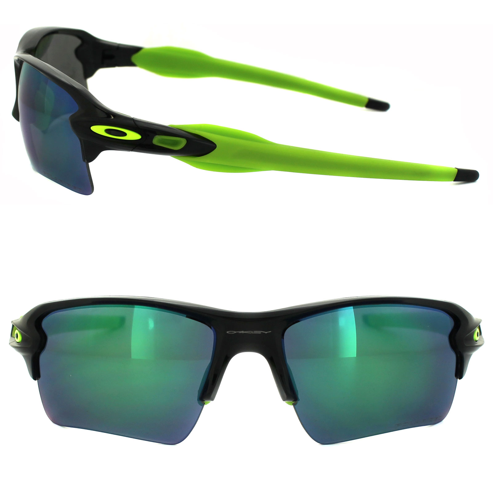 068a71cbbd Sentinel Oakley Sunglasses Flak 2.0 XL OO9188-09 Black Ink Jade Iridium  Polarized
