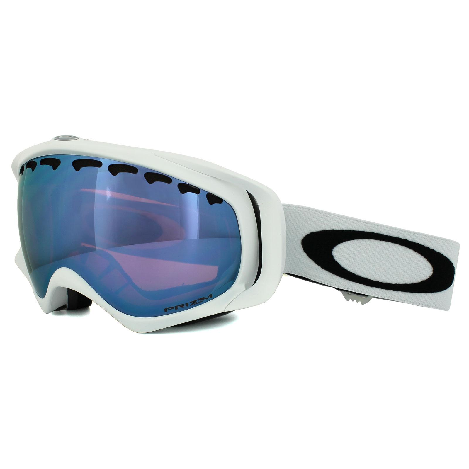 22c25acc931 Oakley Ski Snow Goggles Crowbar OO7005-36 Matt White Prizm Sapphire Iridium  888392142610