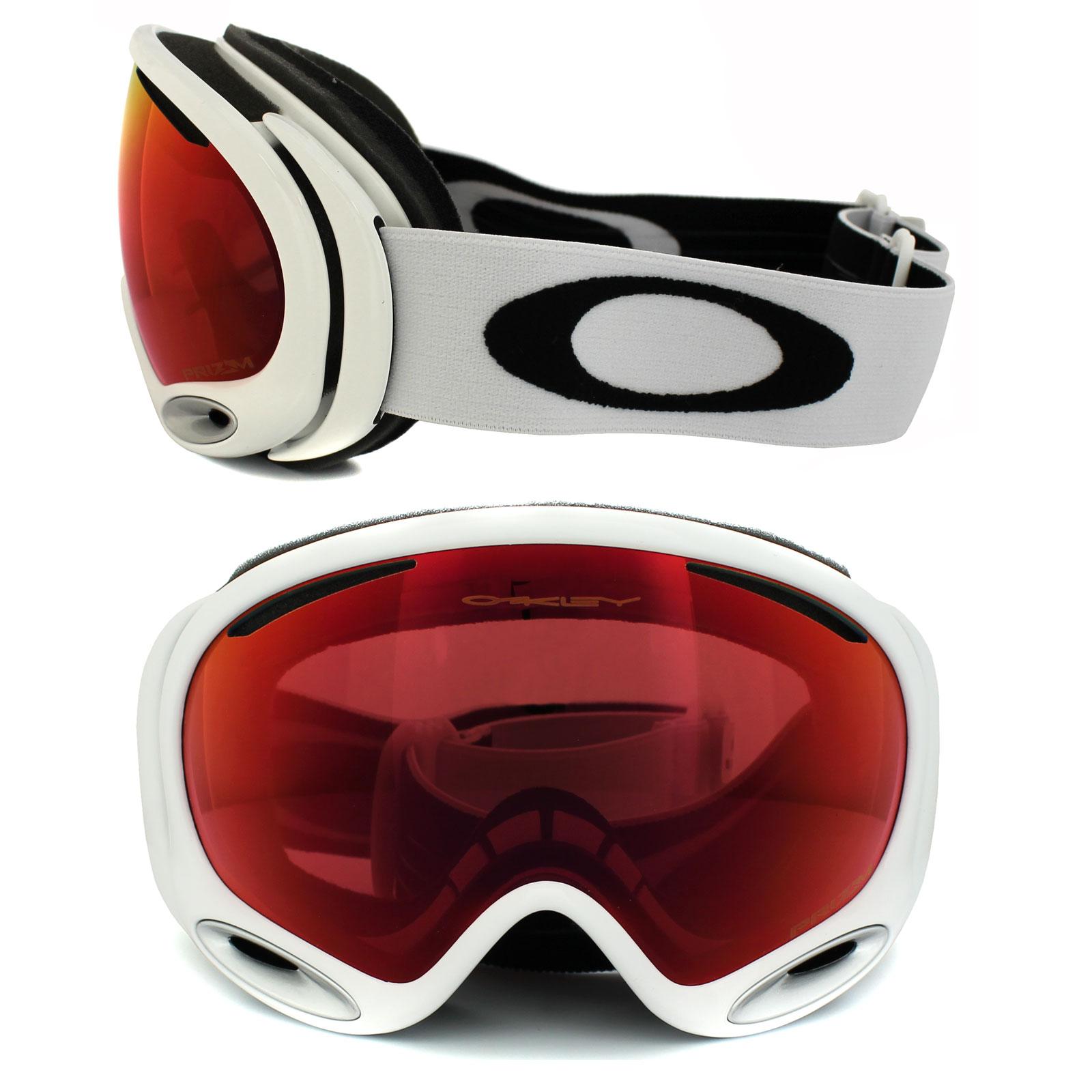 6ab5a88f26a Sentinel Oakley Ski Snow Goggles A Frame 2.0 OO7044-50 Polished White Prizm  Torch Iridium