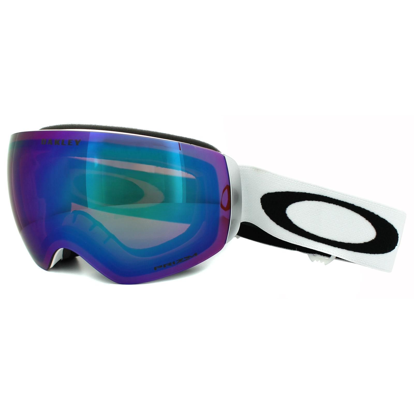 78154b5208b Sentinel Oakley Ski Snow Goggles Flight Deck XM OO7064-23 Matt White Prizm Jade  Iridium