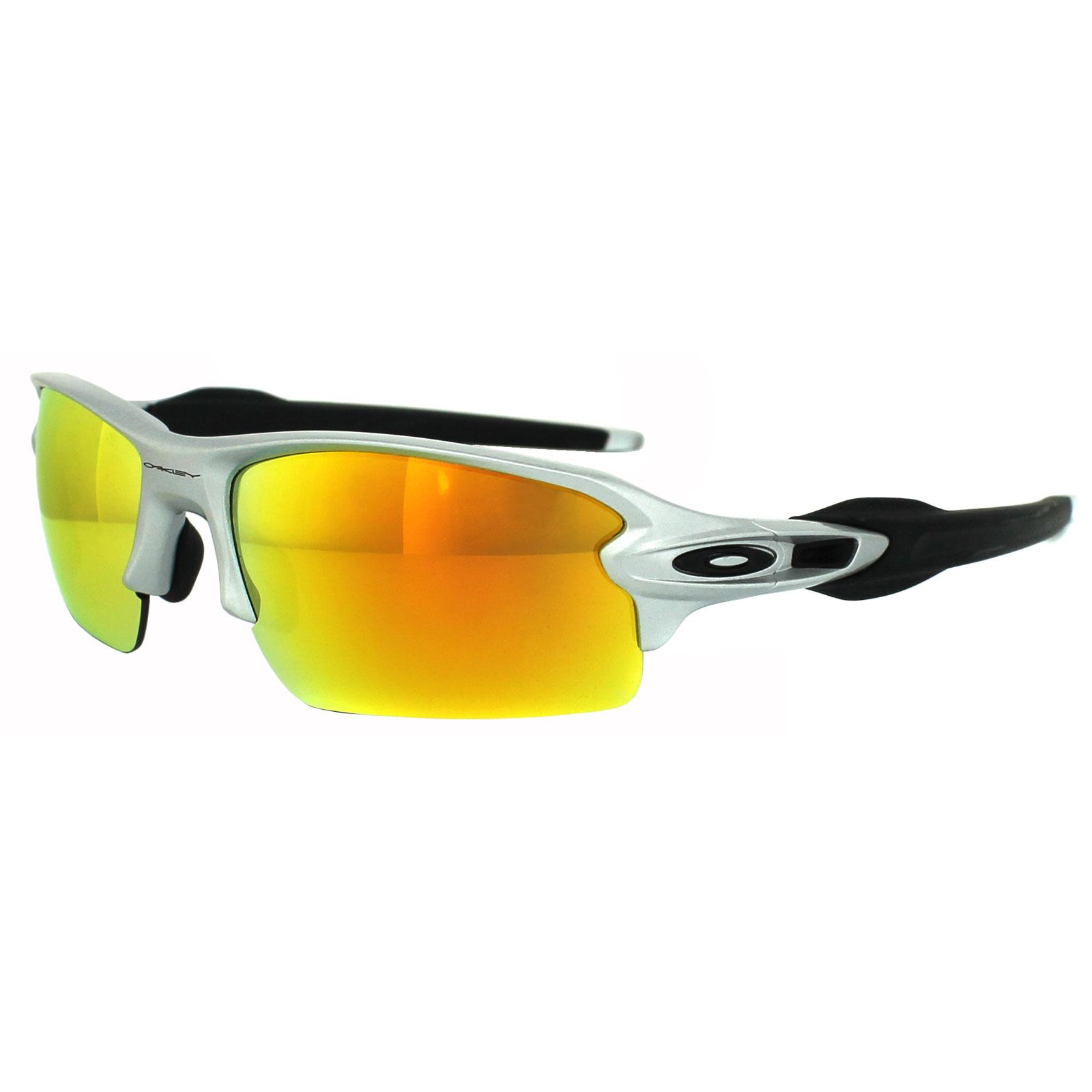 435c96d9e8c Sentinel Oakley Sunglasses Flak 2.0 OO9295-02 Silver Fire Iridium