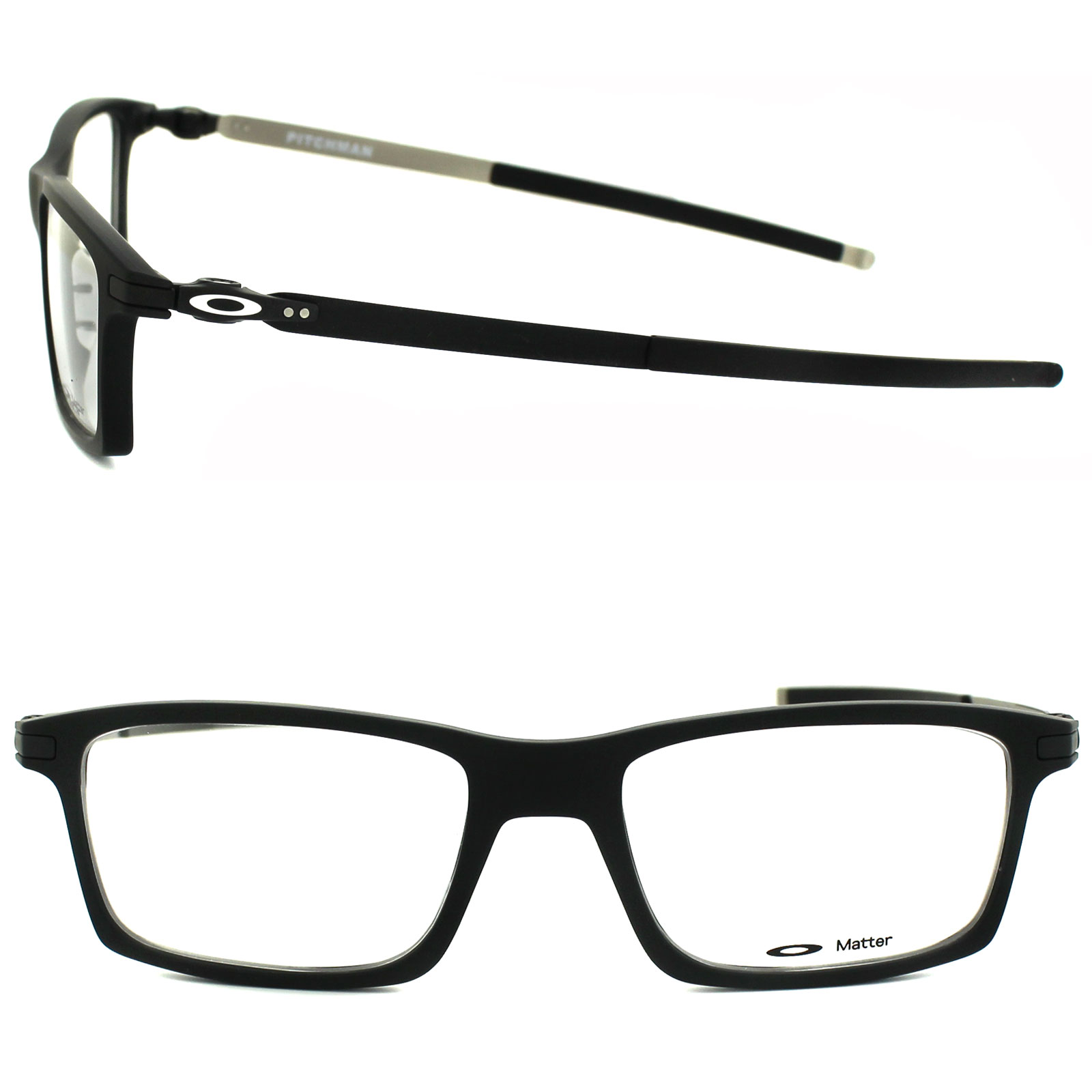 8e05a6ae75 Details about Oakley Glasses Frames Pitchman OX8050-01-53 Satin Black