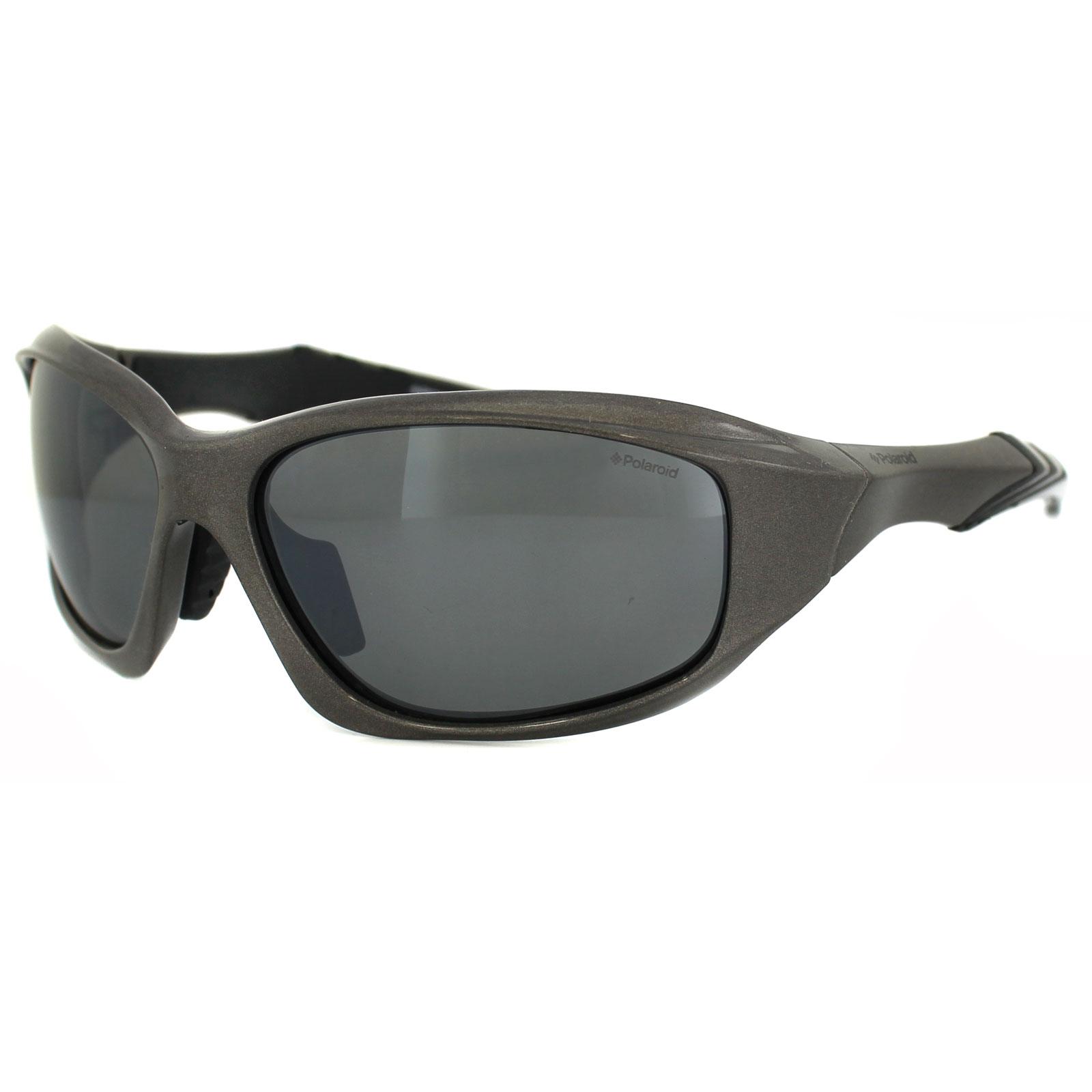 Polaroid sport occhiali da sole p7322 222 jb nero e grigio - Specchio polarizzato ...