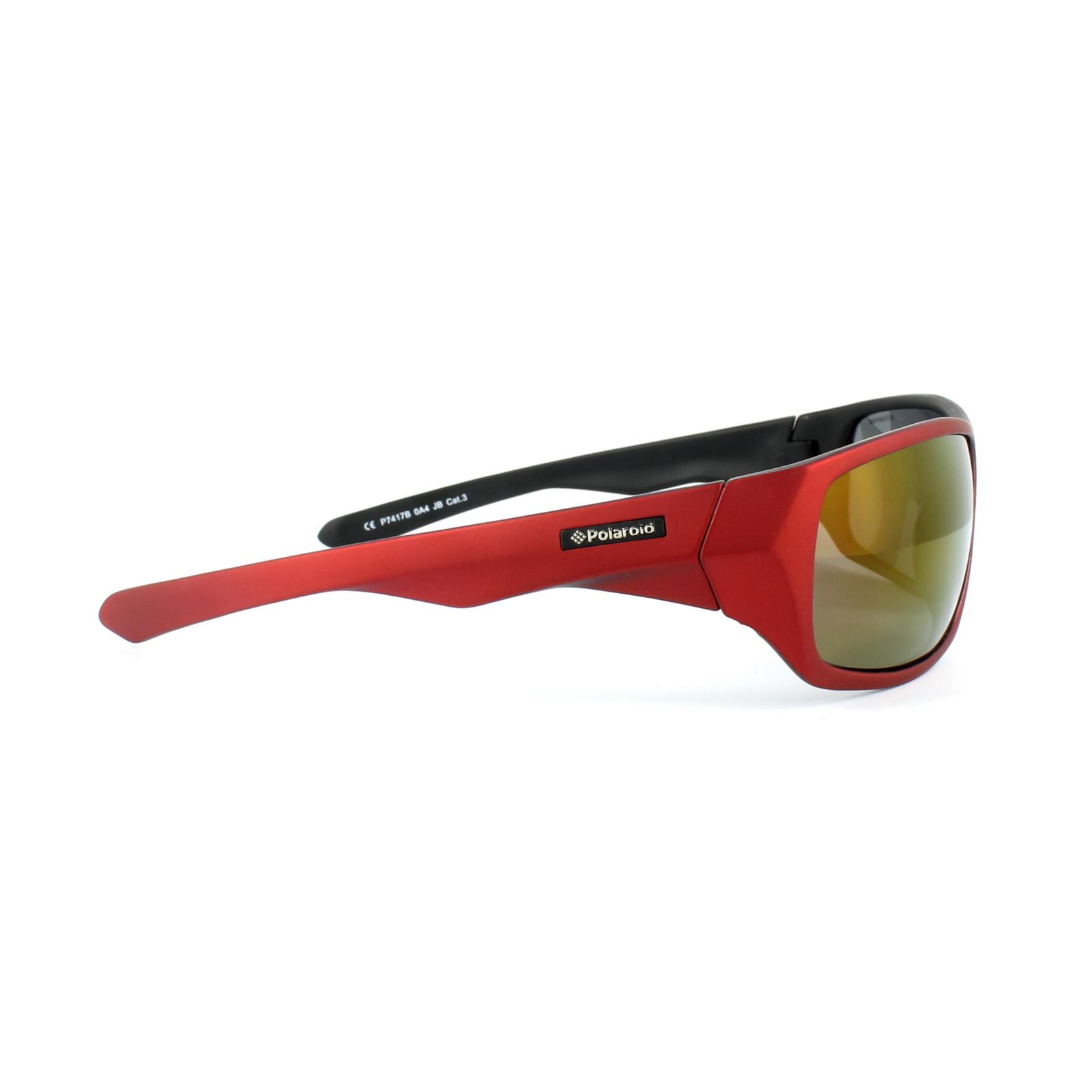 Polaroid Sport Sonnenbrille P7417 9N7/JB Schwarz & Schwarz Blau Polarisiert GBzP70BnF