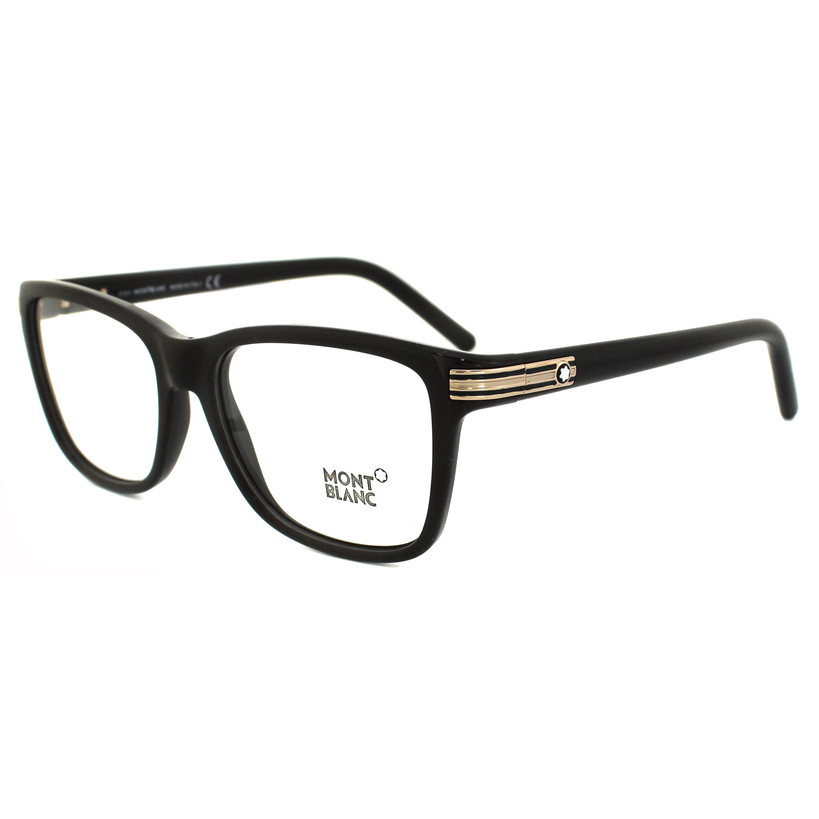 f66c4e18b68 Mont Blanc Glasses Frames Mb0477 005 Black Gold 664689622474