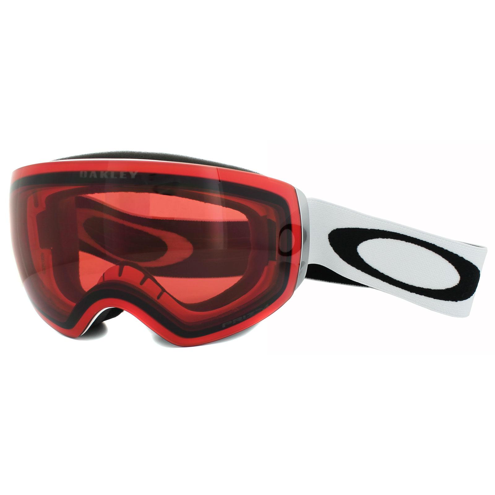 355d5236eb Sentinel Oakley Ski Snow Goggles Flight Deck XM OO7064-02 Matt White Prizm  Rose