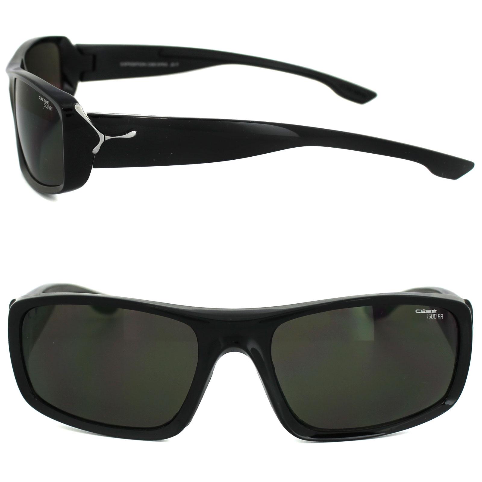 6bd52f80e34 Sentinel Cebe Sunglasses Expedition CBEXPE6 Shiny Black Grey Anti-Reflective