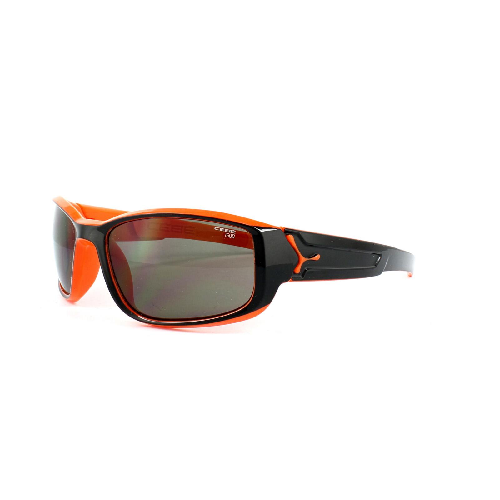 3fdfbf45b6297 Sentinel Cebe Sunglasses S Break CBSBRK2 Shiny Black   Orange 1500 Grey  Small