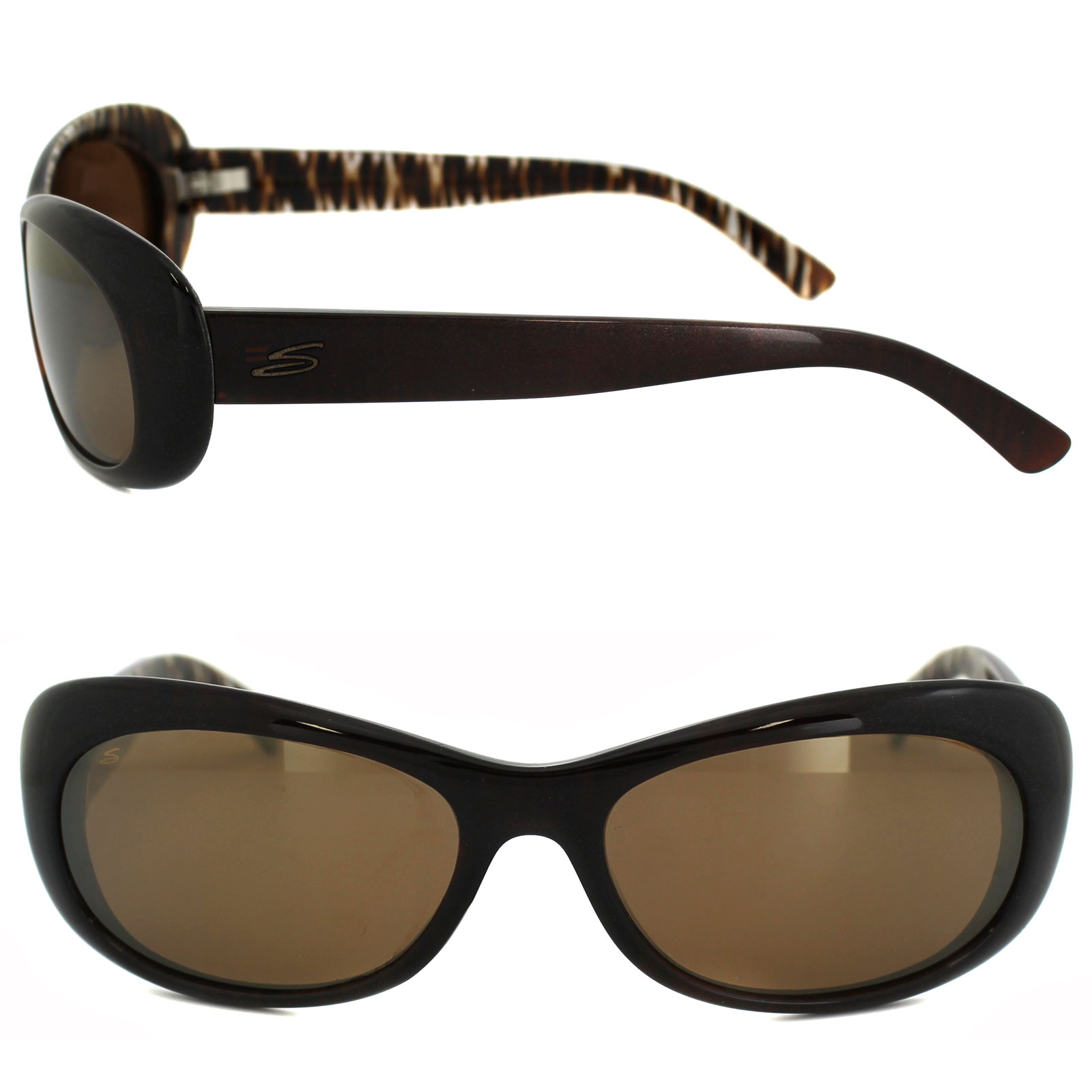 Serengeti Sunglasses Bella 7630 Bronze Zebra Drivers Gold Mirror Polarized