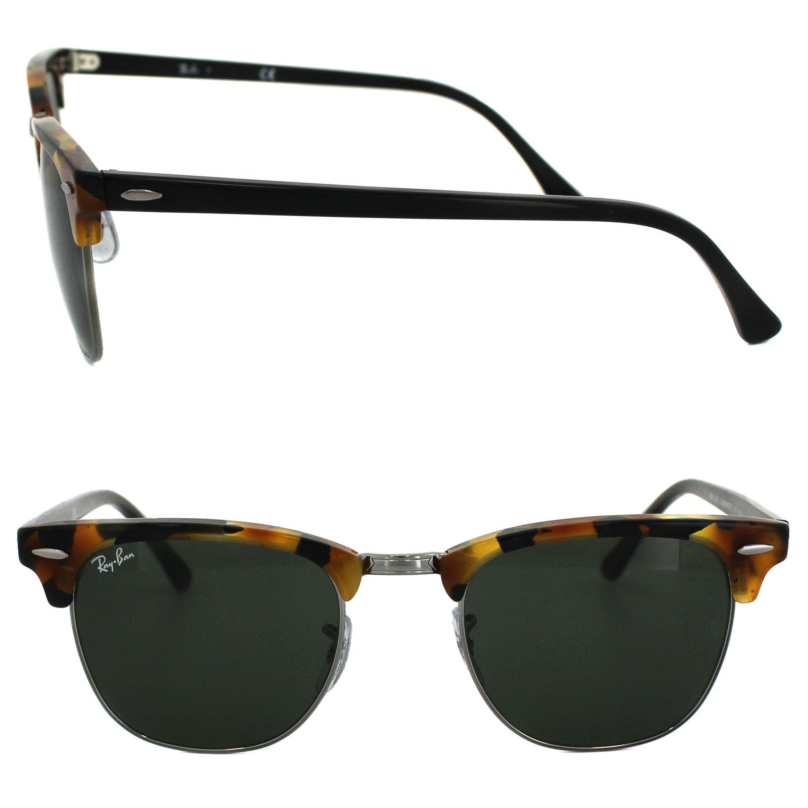 d4487f1298e Sentinel Ray-Ban Sunglasses Clubmaster 3016 1157 Fleck Tortoise   Black  Green